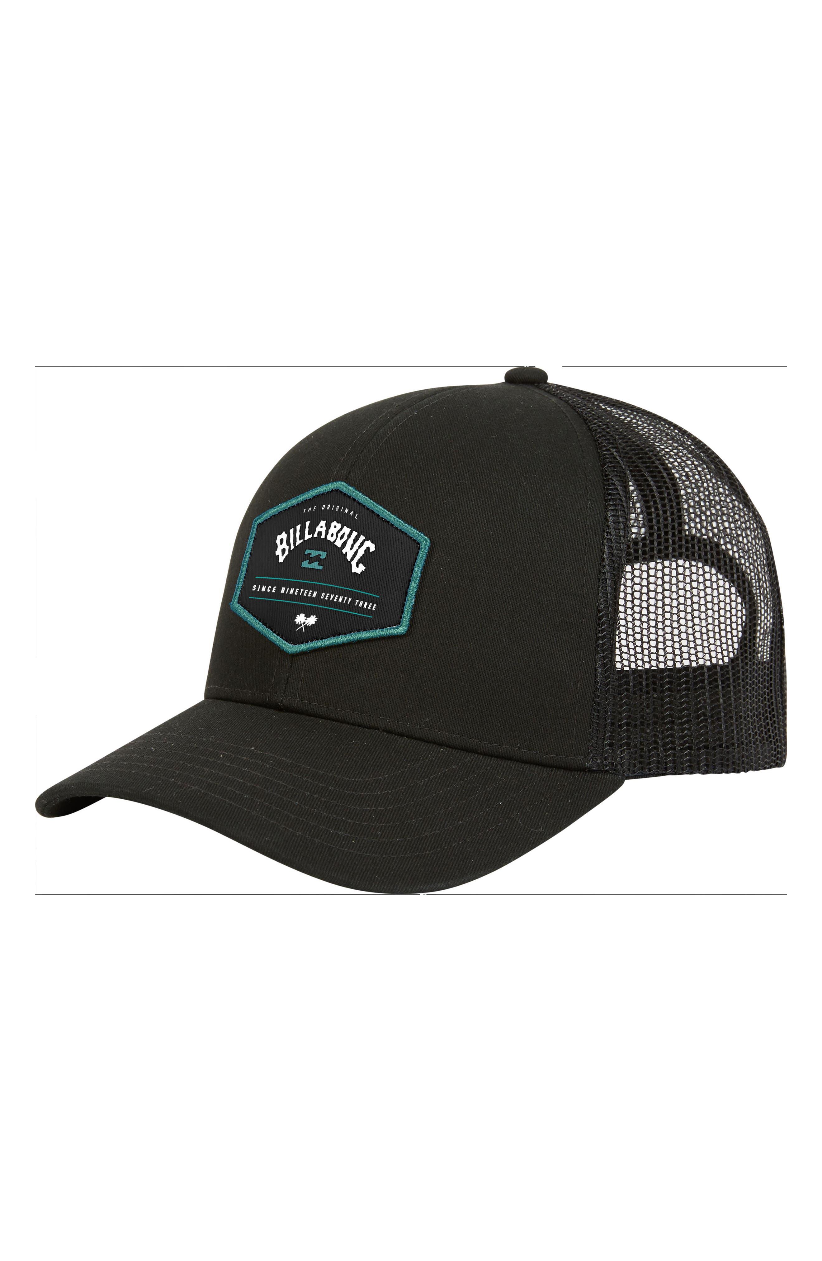Walled Cap,                         Main,                         color, BLACK WHITE