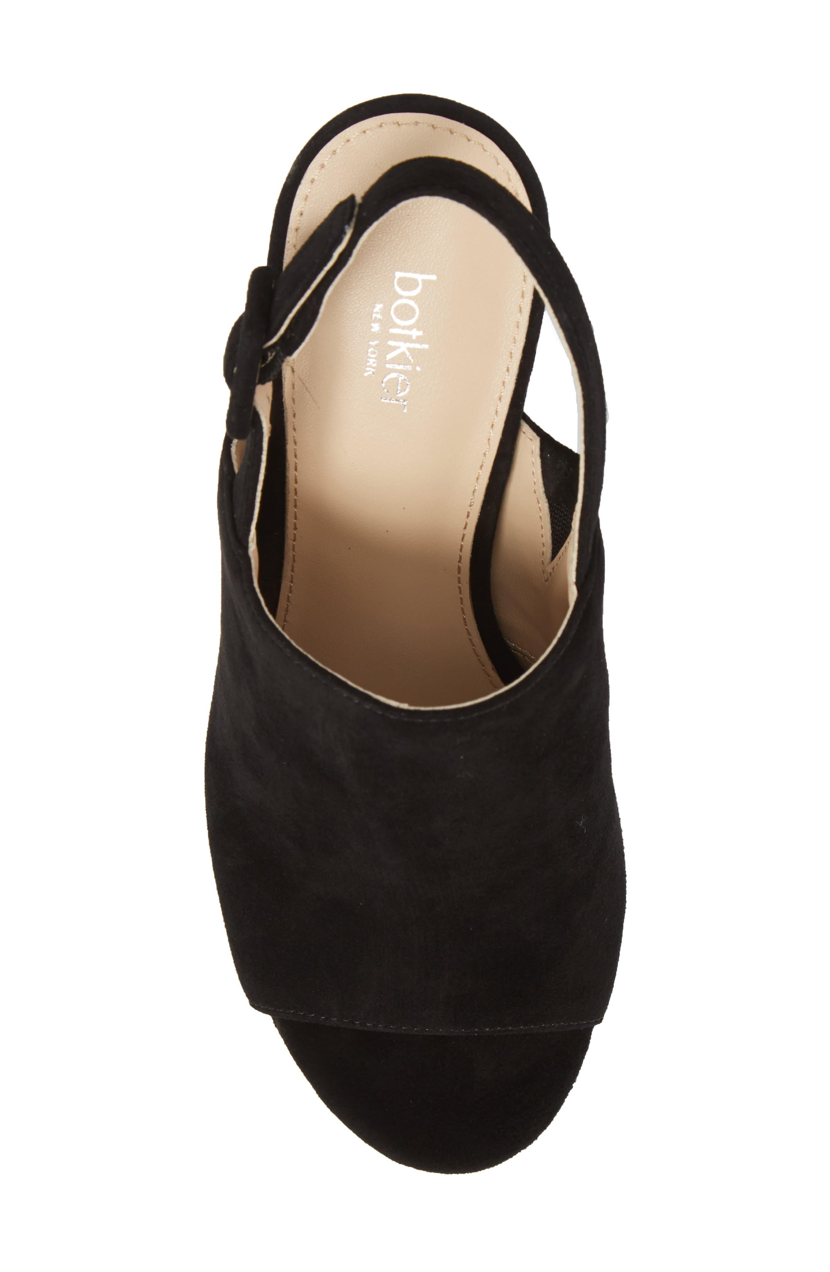 Jolene Platform Sandal,                             Alternate thumbnail 5, color,                             BLACK SUEDE