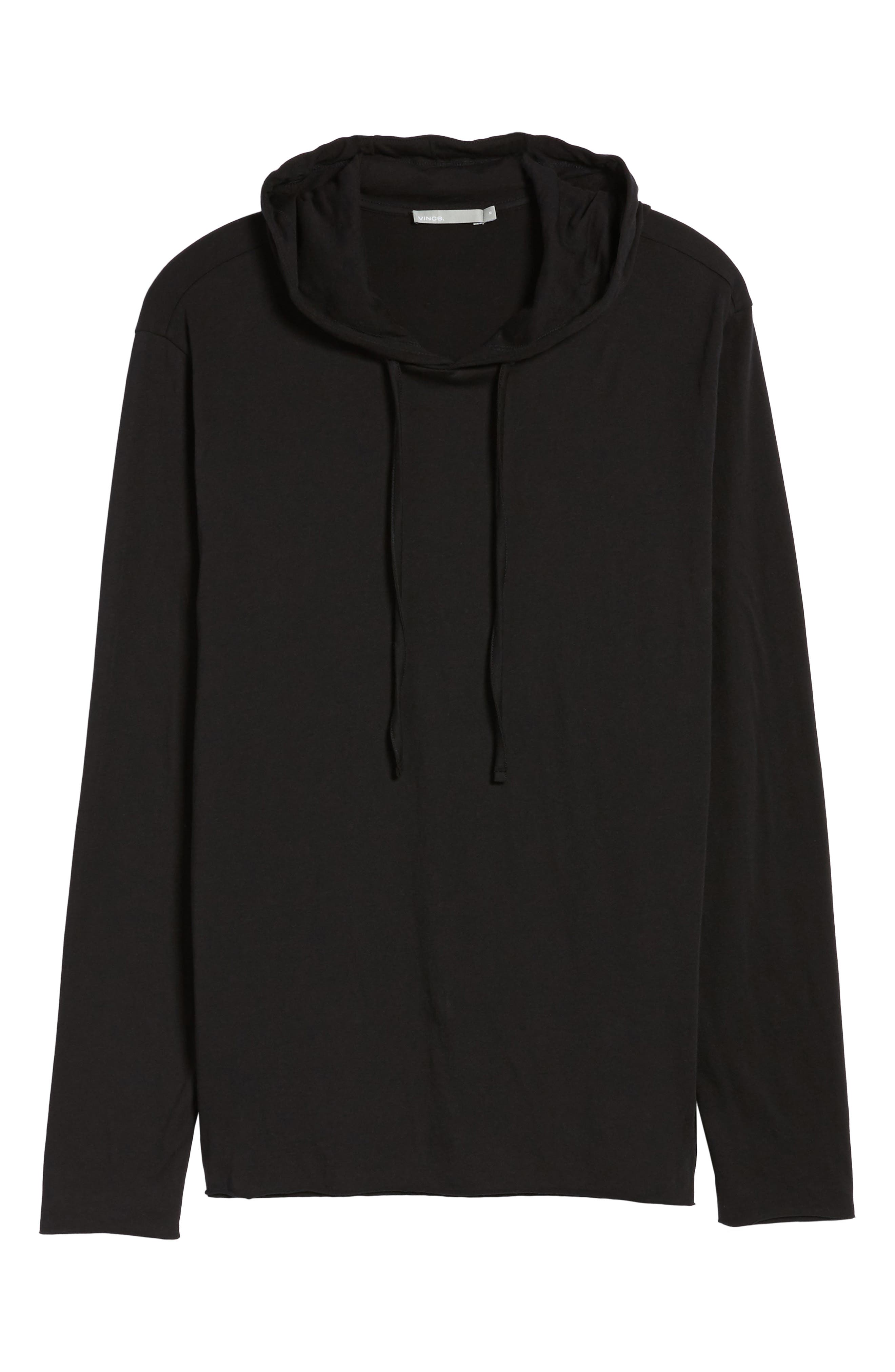 Layered Long Sleeve Pullover Hoodie,                             Alternate thumbnail 6, color,                             001