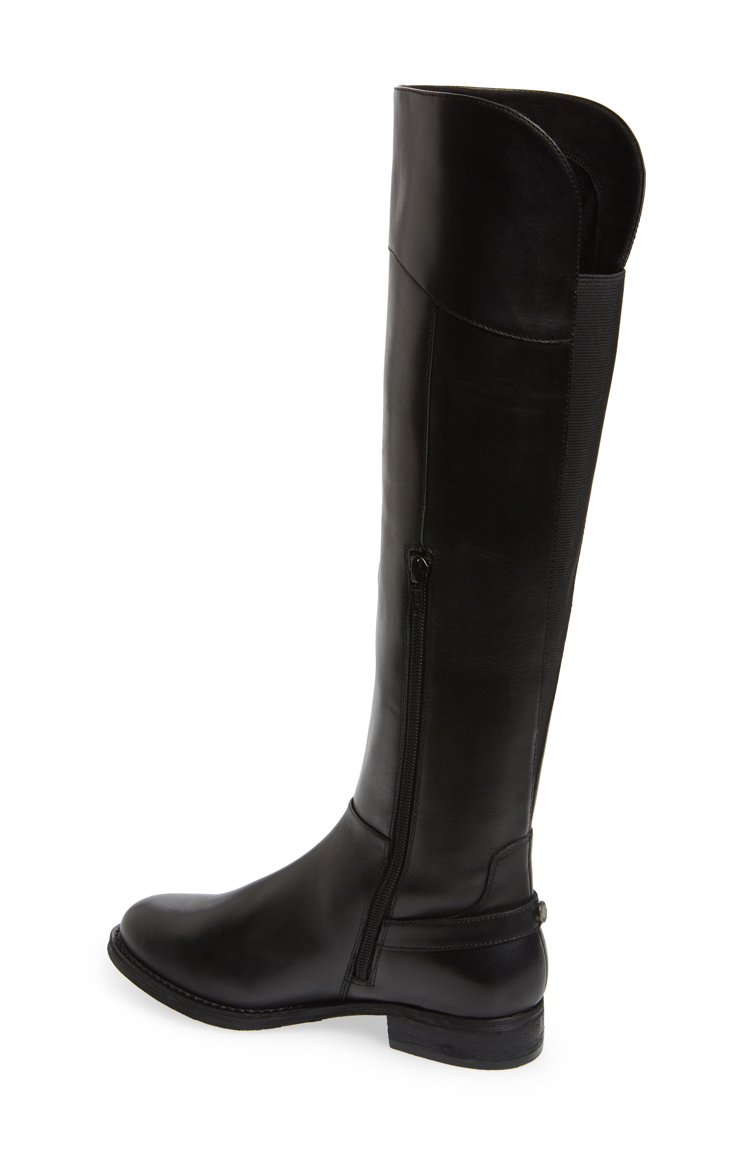 Marianne Over the Knee Boot,                             Alternate thumbnail 2, color,                             BLACK LEATHER