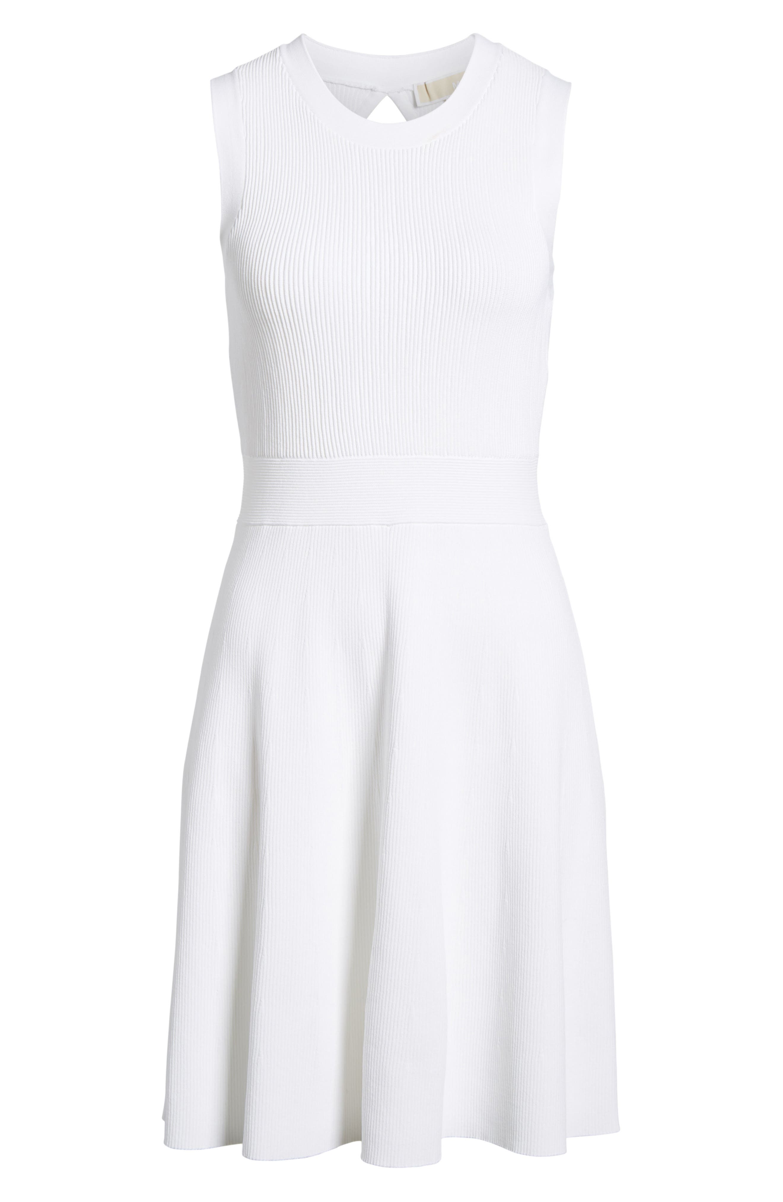 Keyhole Back Fit & Flare Sleeveless Dress,                             Alternate thumbnail 6, color,