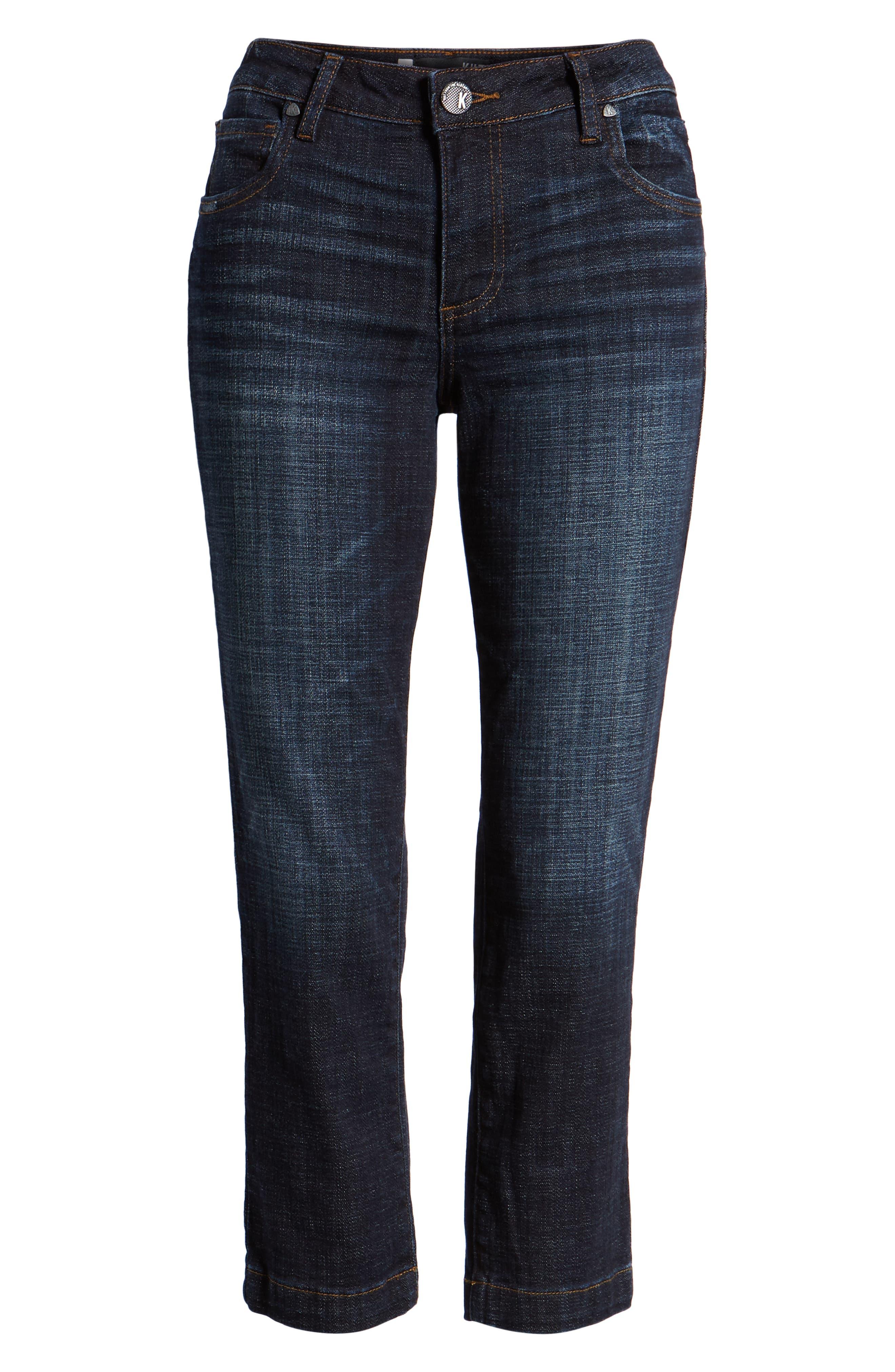 KUT from the Kloth Lauren Crop Straight Leg Jeans,                             Alternate thumbnail 7, color,                             440