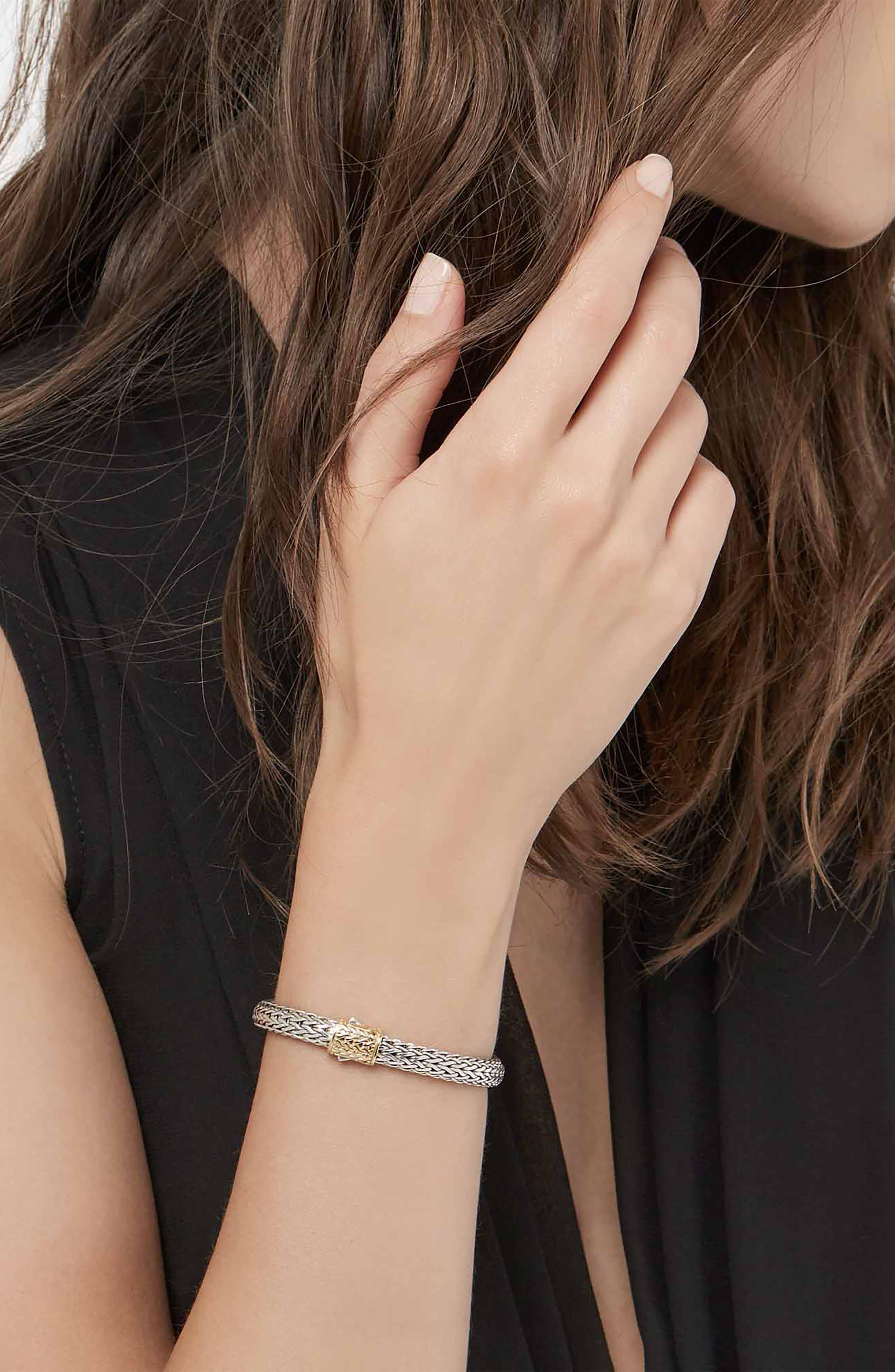 'Classic Chain' Bracelet,                             Alternate thumbnail 2, color,                             18KYSS