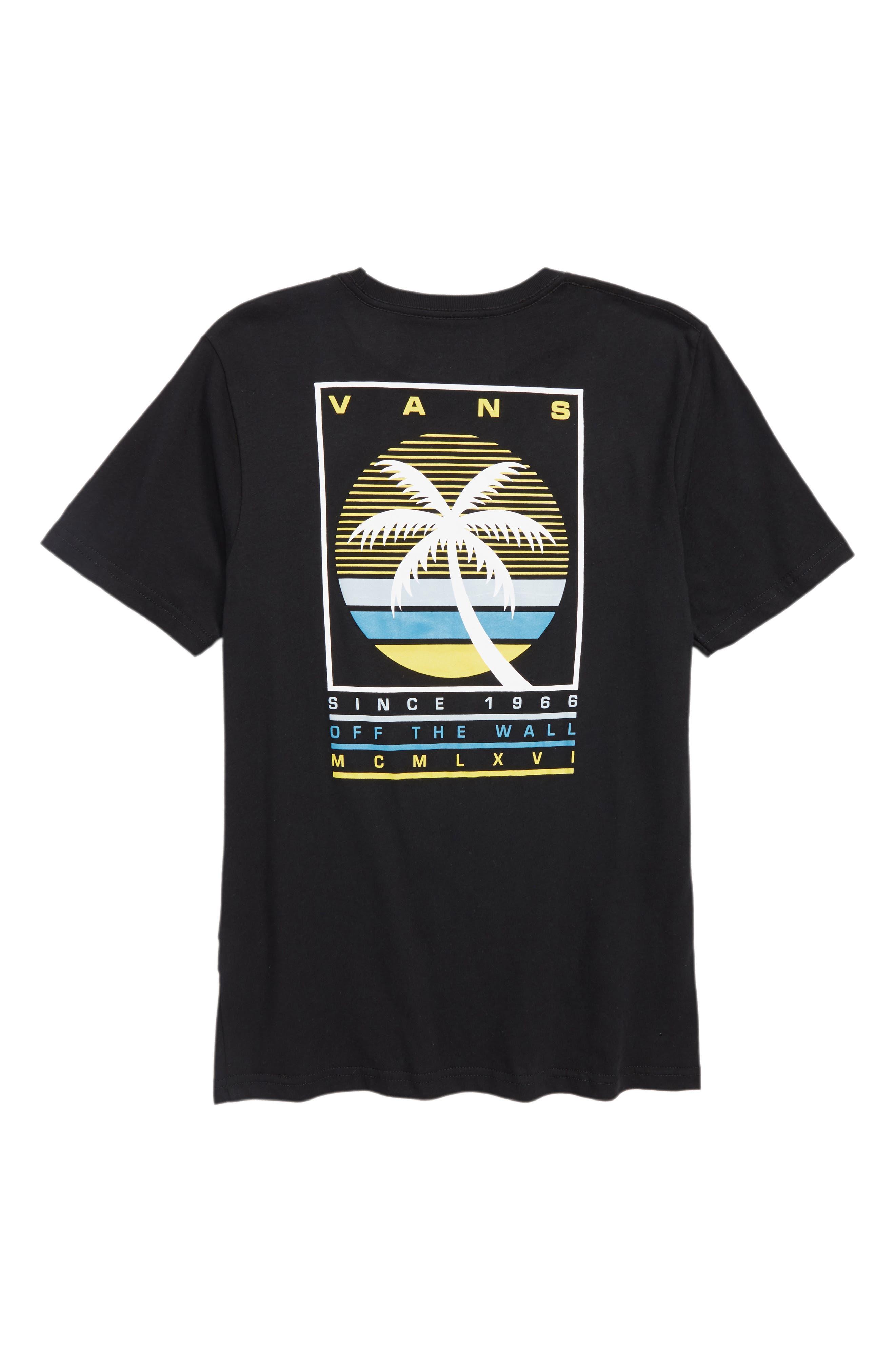 Vintage Tall Palms Graphic T-Shirt,                             Alternate thumbnail 2, color,                             001