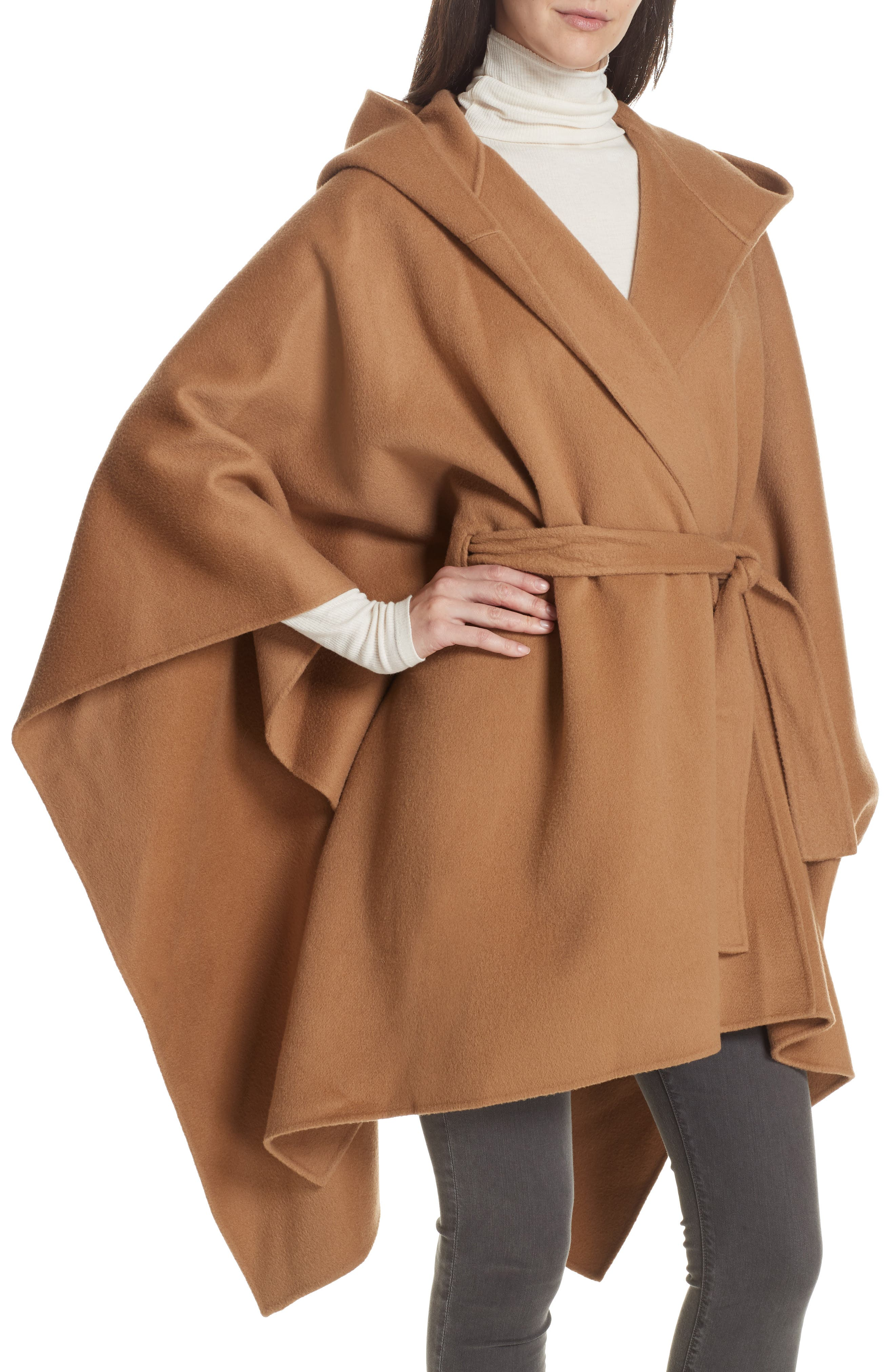 New Divide Hooded Poncho Coat,                             Alternate thumbnail 4, color,                             200