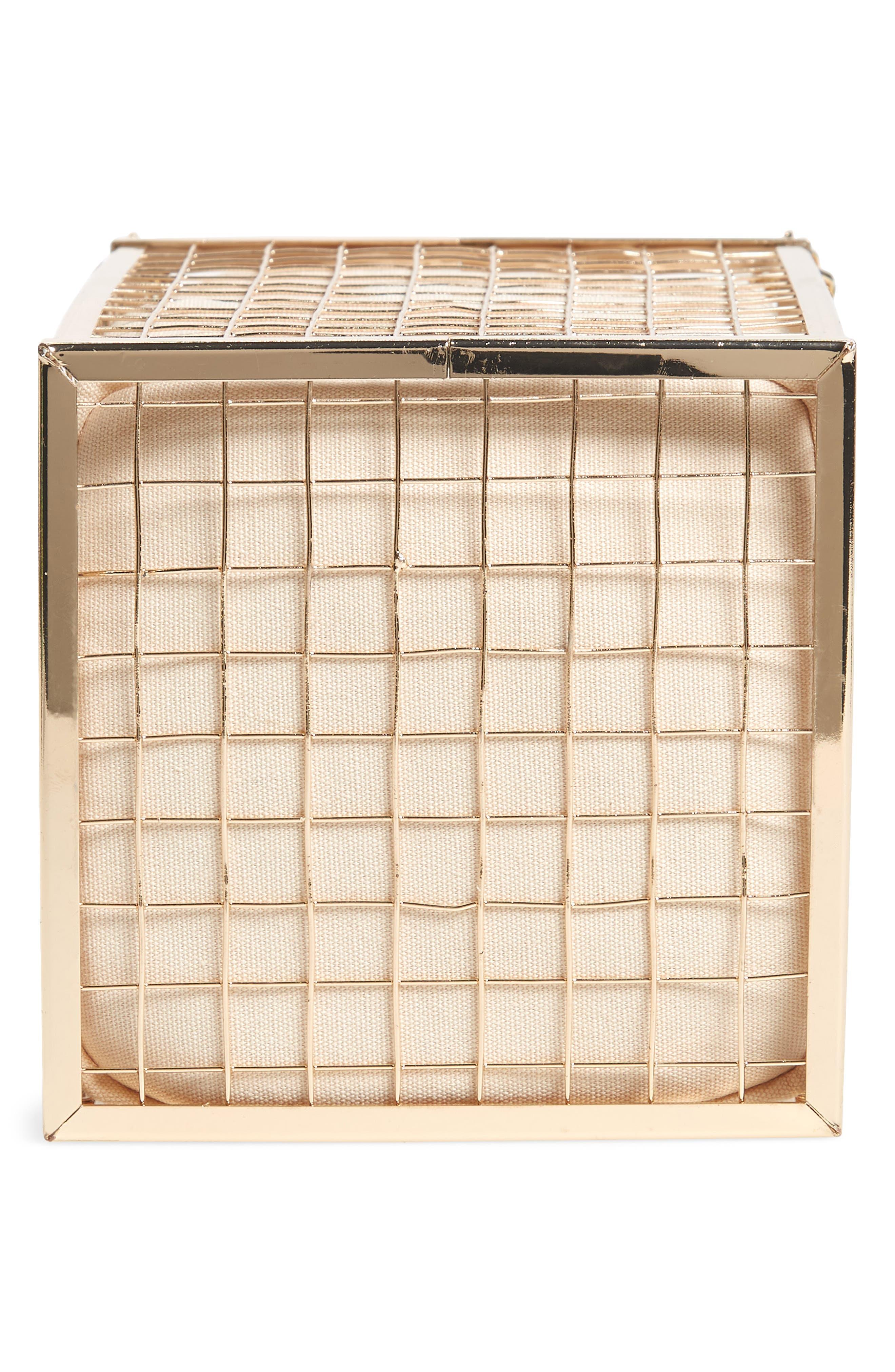 Cara Cage Shoulder Bag,                             Alternate thumbnail 6, color,                             GOLD