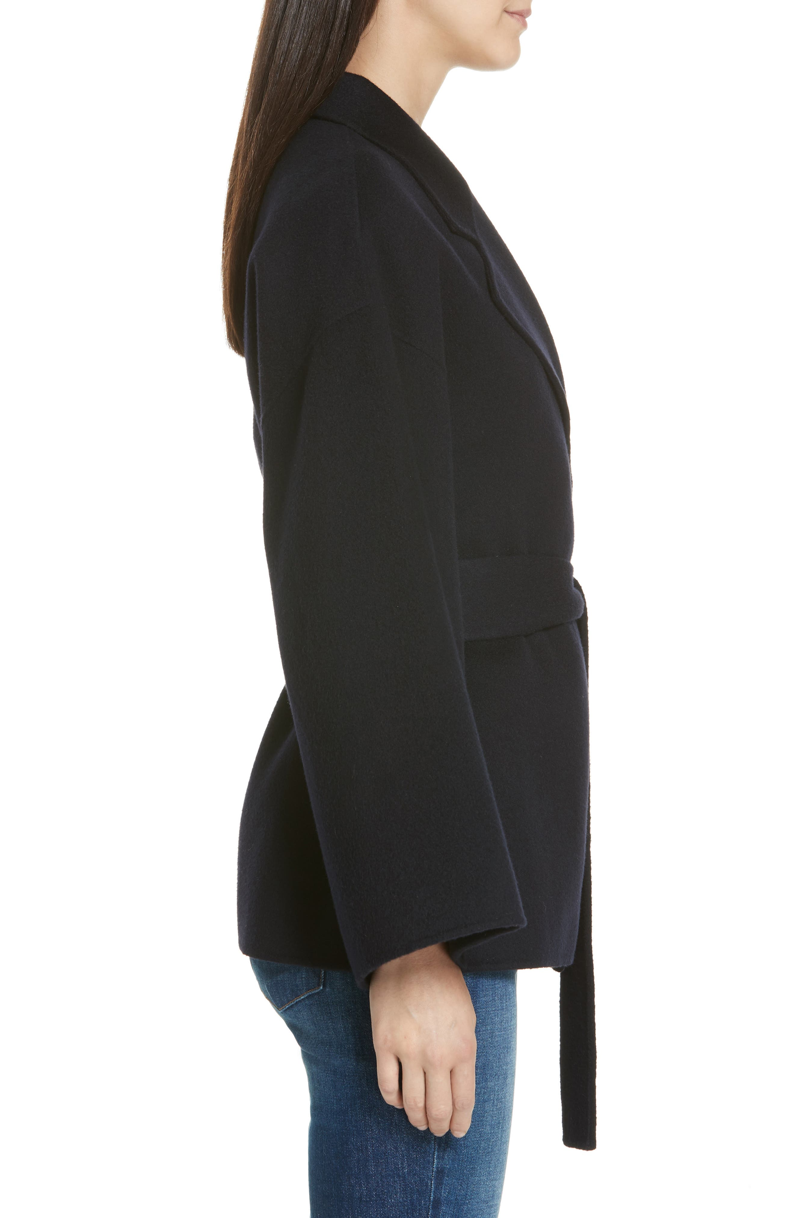 Wool & Cashmere Belted Jacket,                             Alternate thumbnail 3, color,                             400