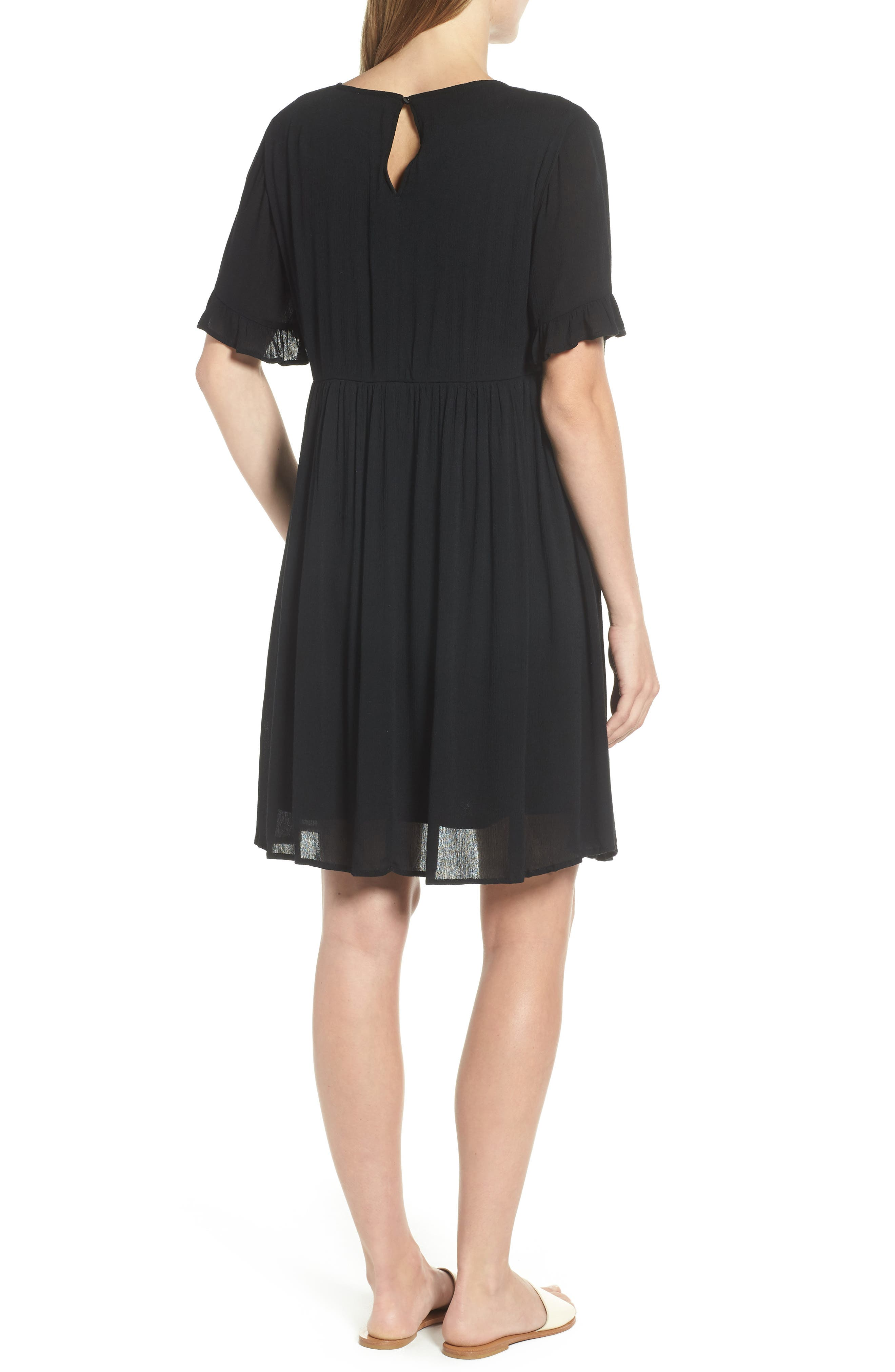 EVERLEIGH,                             Embroidered Dress,                             Alternate thumbnail 2, color,                             001