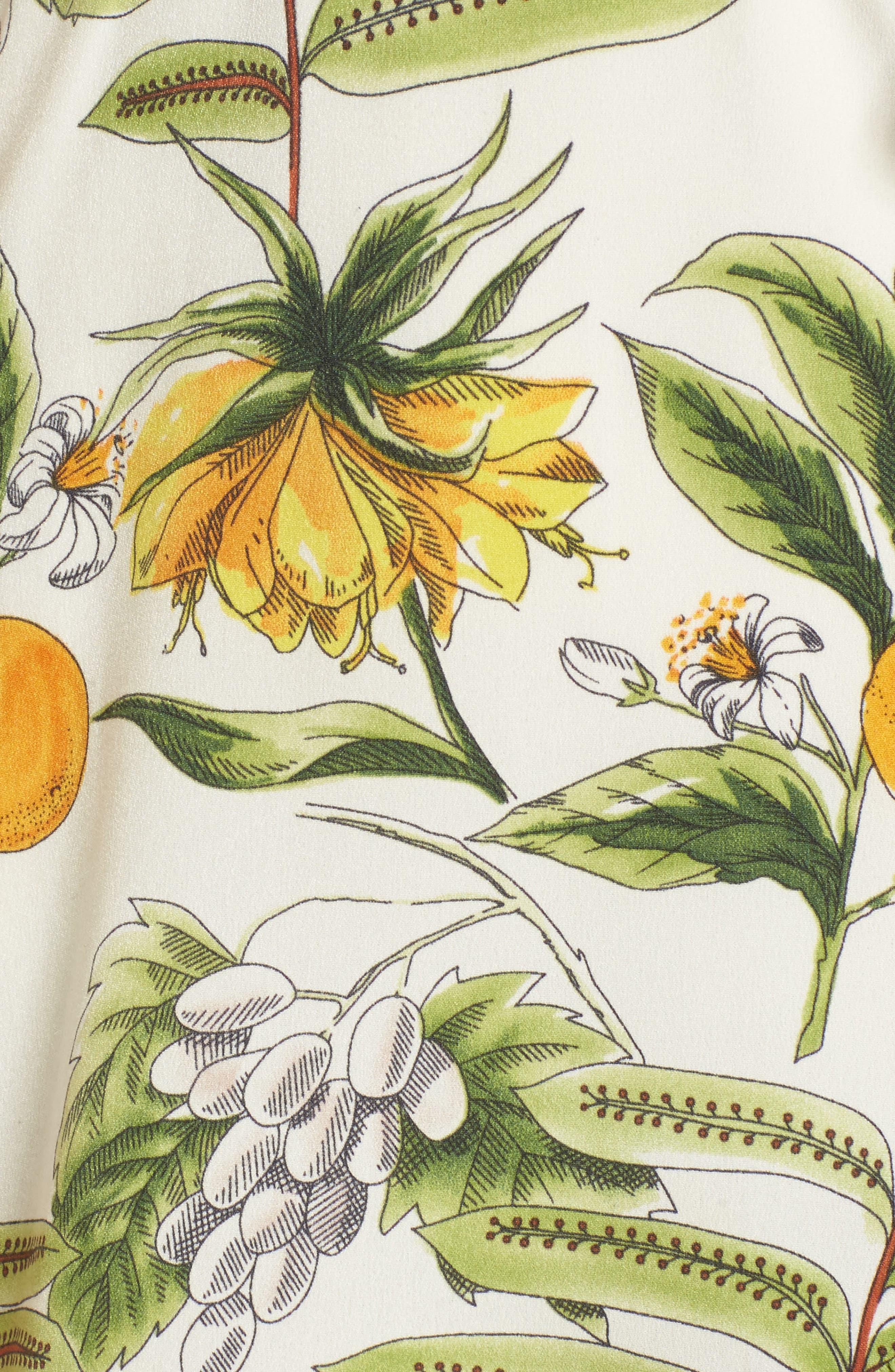 Limonada Citrus Dress,                             Alternate thumbnail 5, color,                             IVORY/ YELLOW