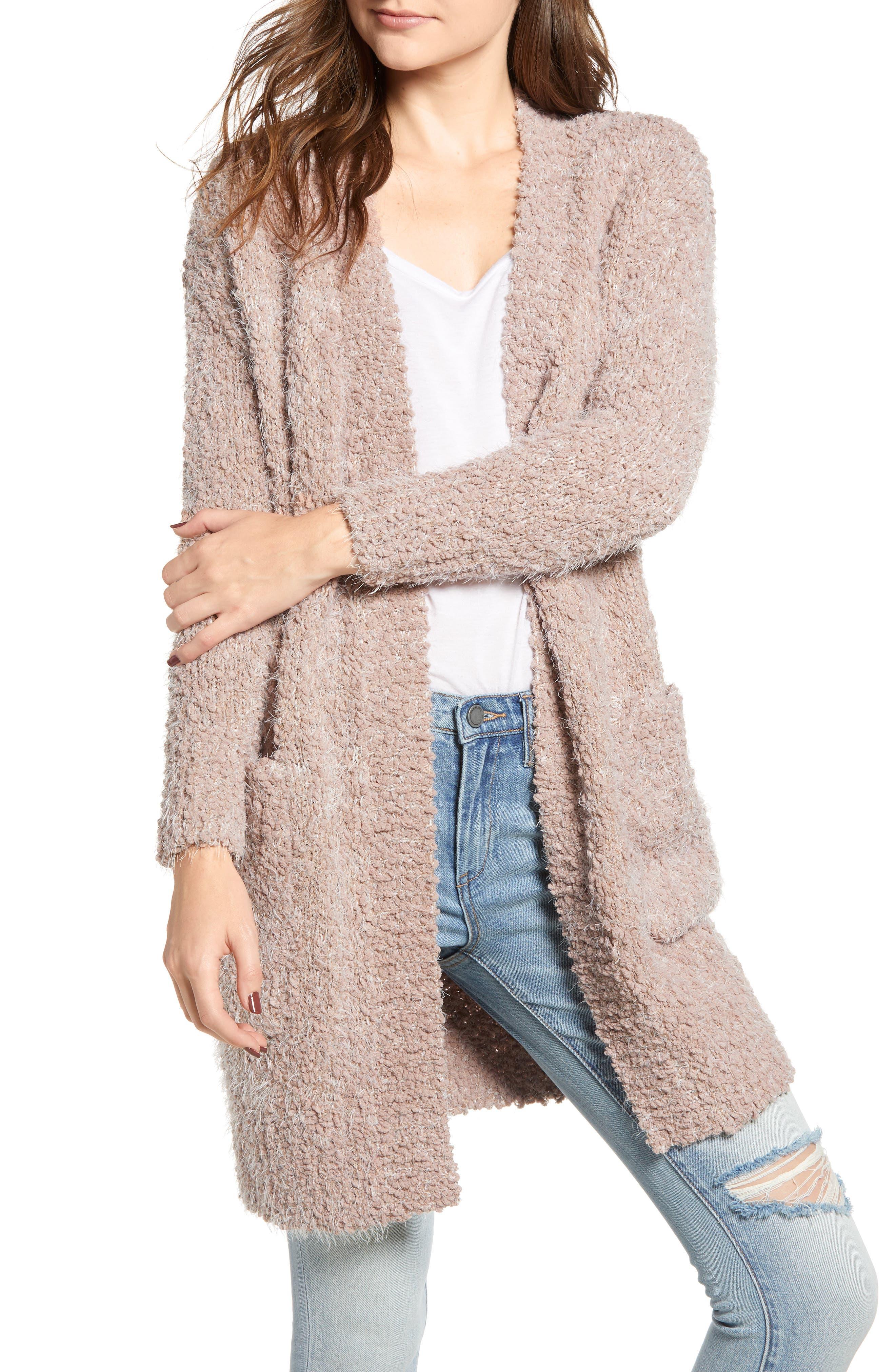 LIRA CLOTHING Miranda Knit Cardigan, Main, color, DUSTY ROSE
