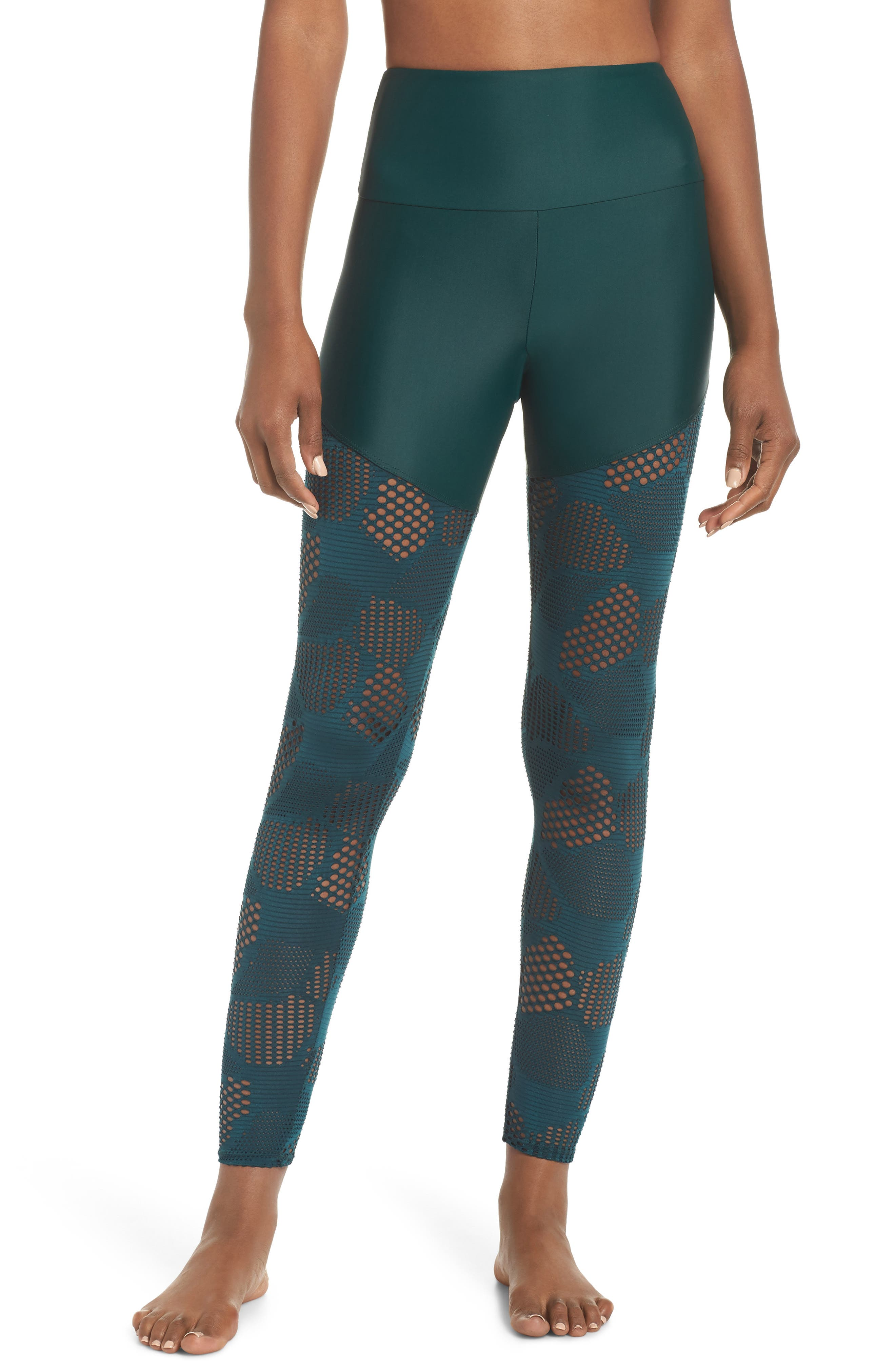 Half/Half 2.0 Leggings,                         Main,                         color, ALPINE HONEYCOMB
