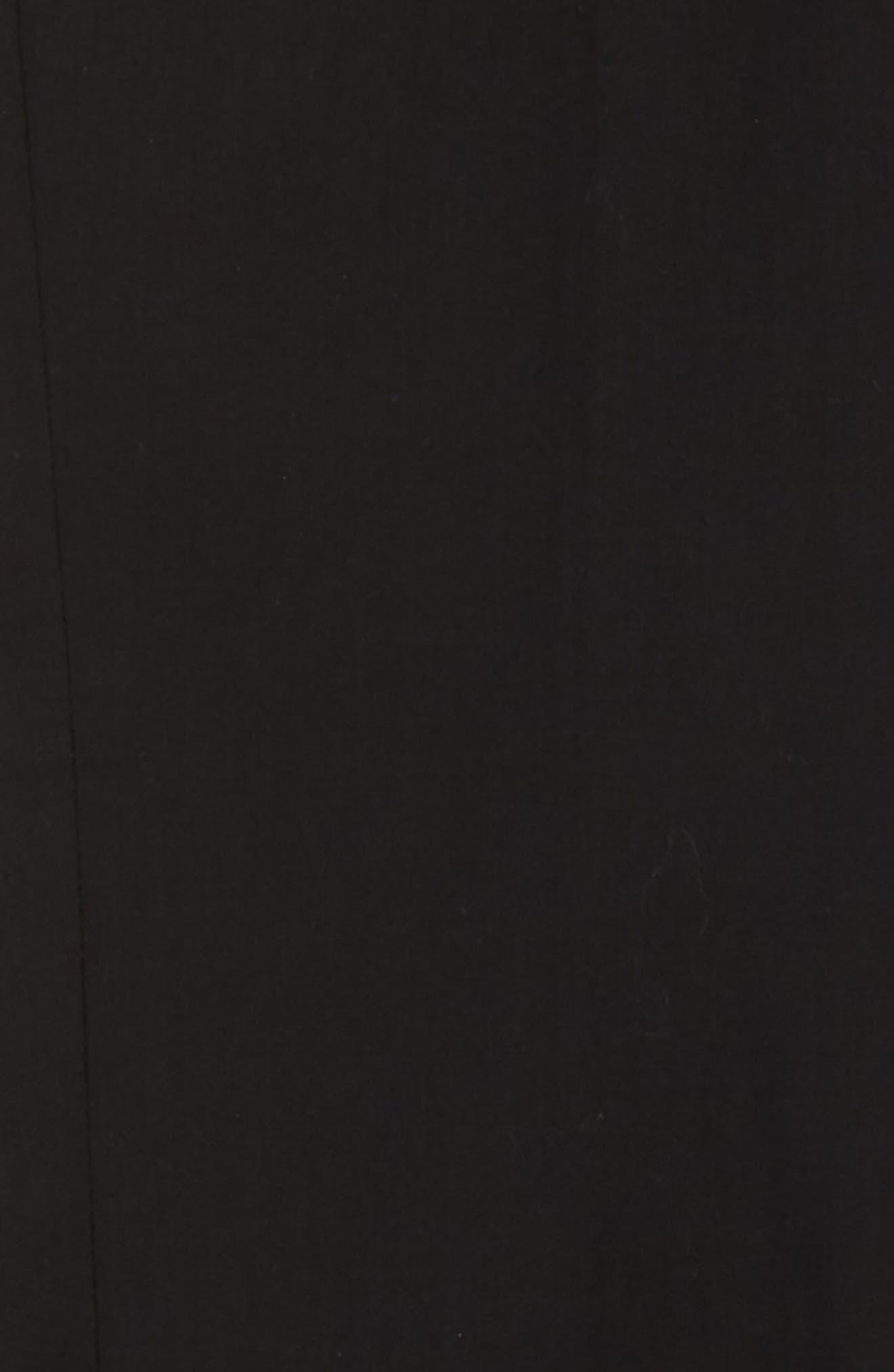 Elliott Slim Fit Flat Front Trousers,                             Alternate thumbnail 2, color,                             BLACK