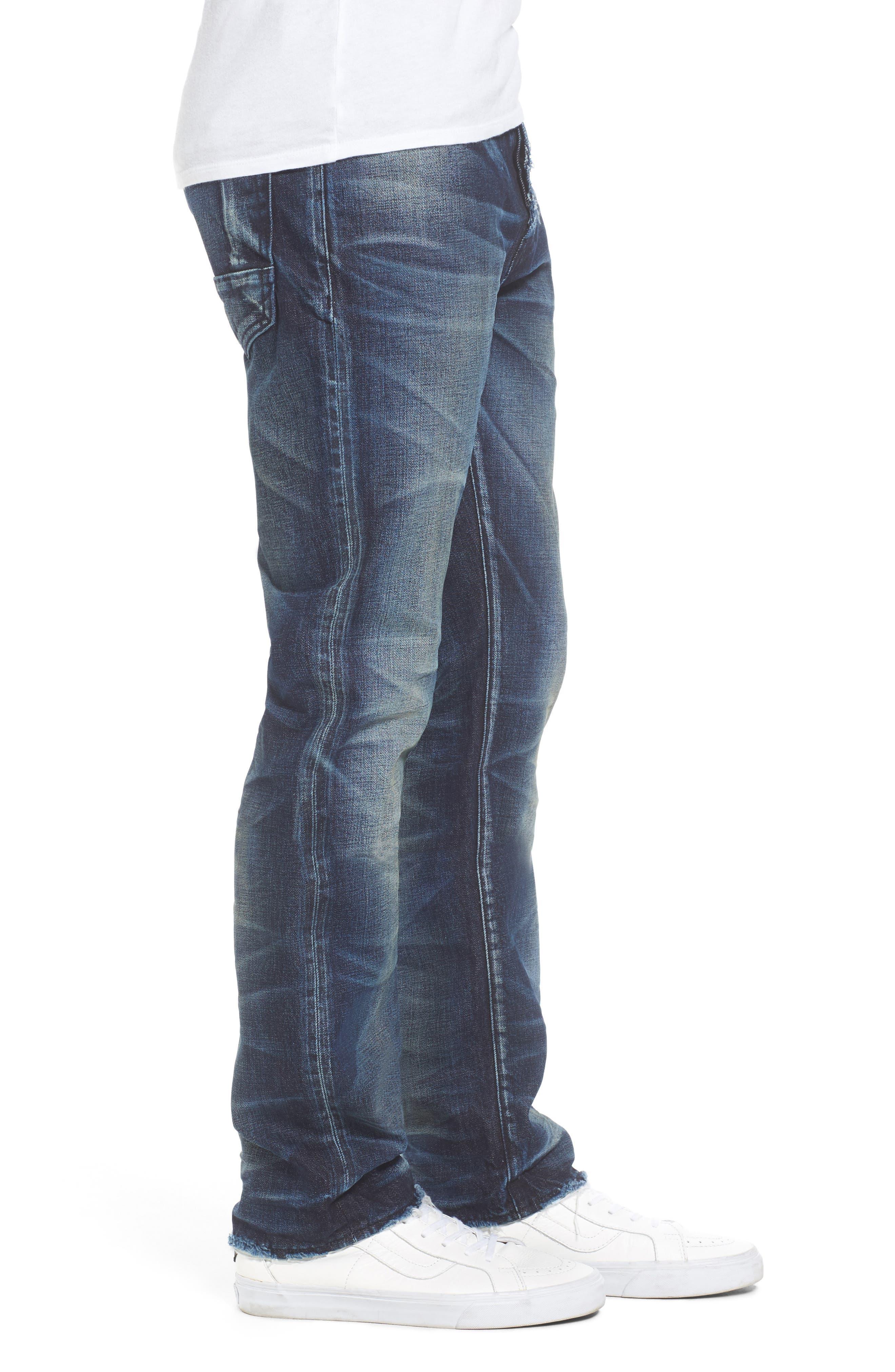 Demon Slim Straight Jeans,                             Alternate thumbnail 3, color,                             INDIGO