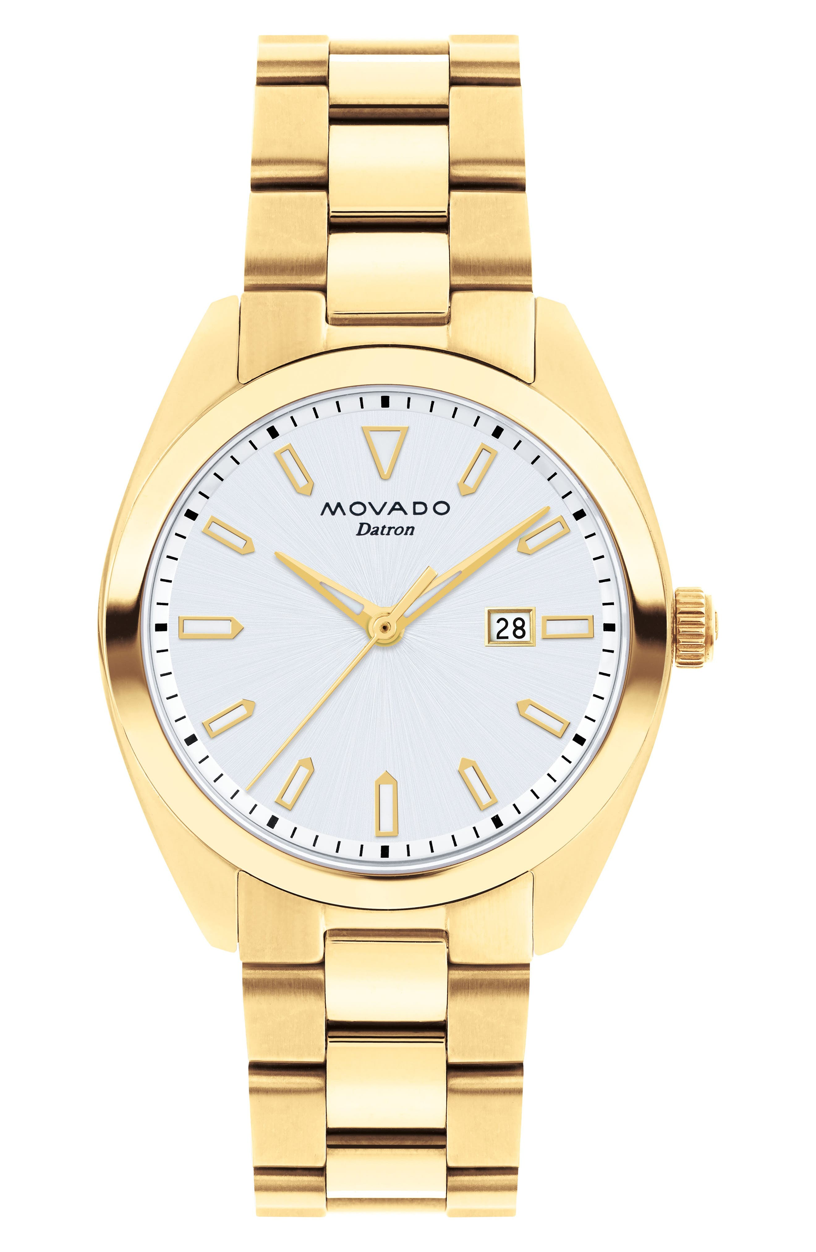MOVADO,                             Heritage Datron Bracelet Watch, 31mm,                             Main thumbnail 1, color,                             710