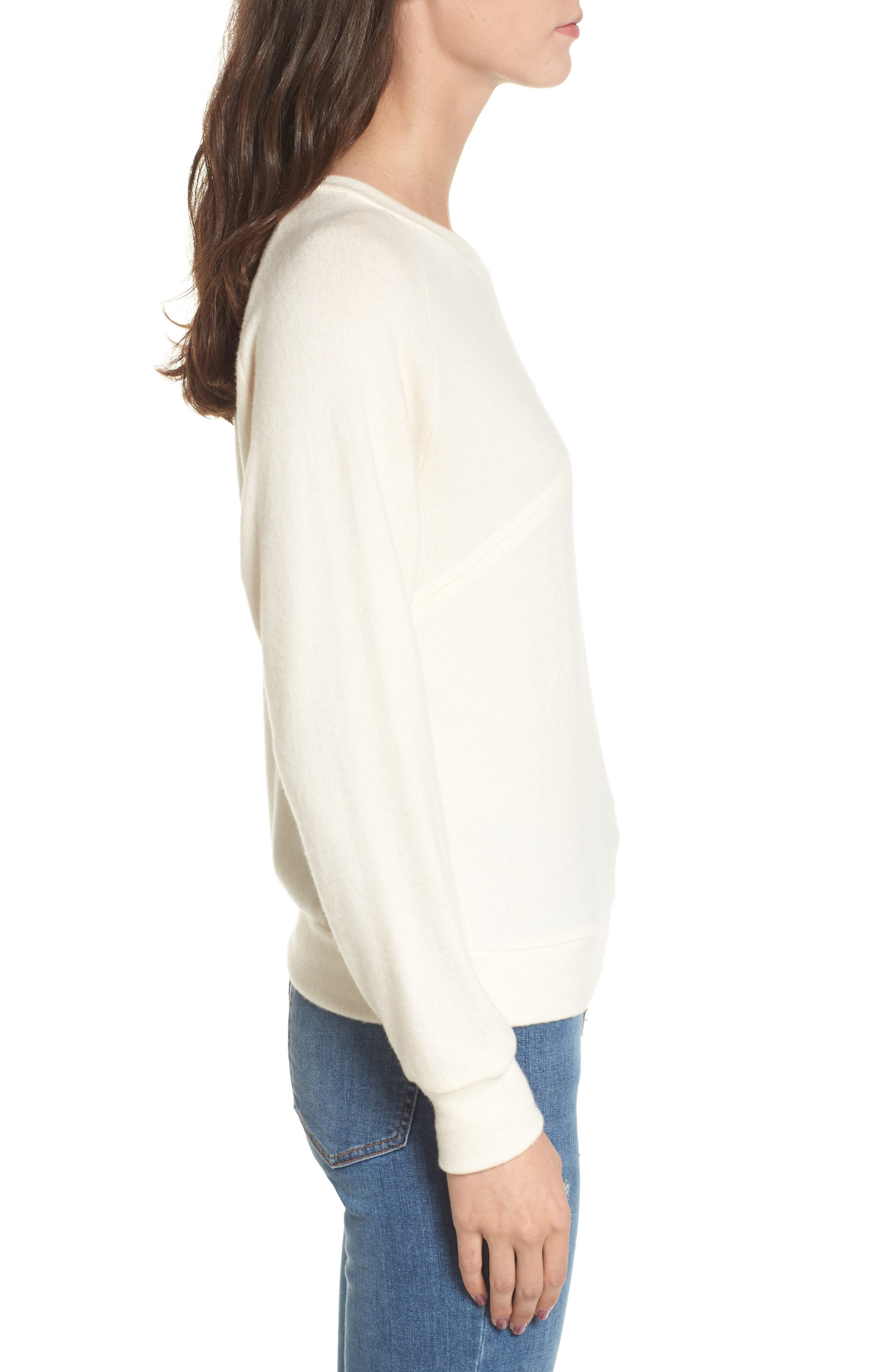 Phased Brushed Cutout Sweater,                             Alternate thumbnail 3, color,                             250