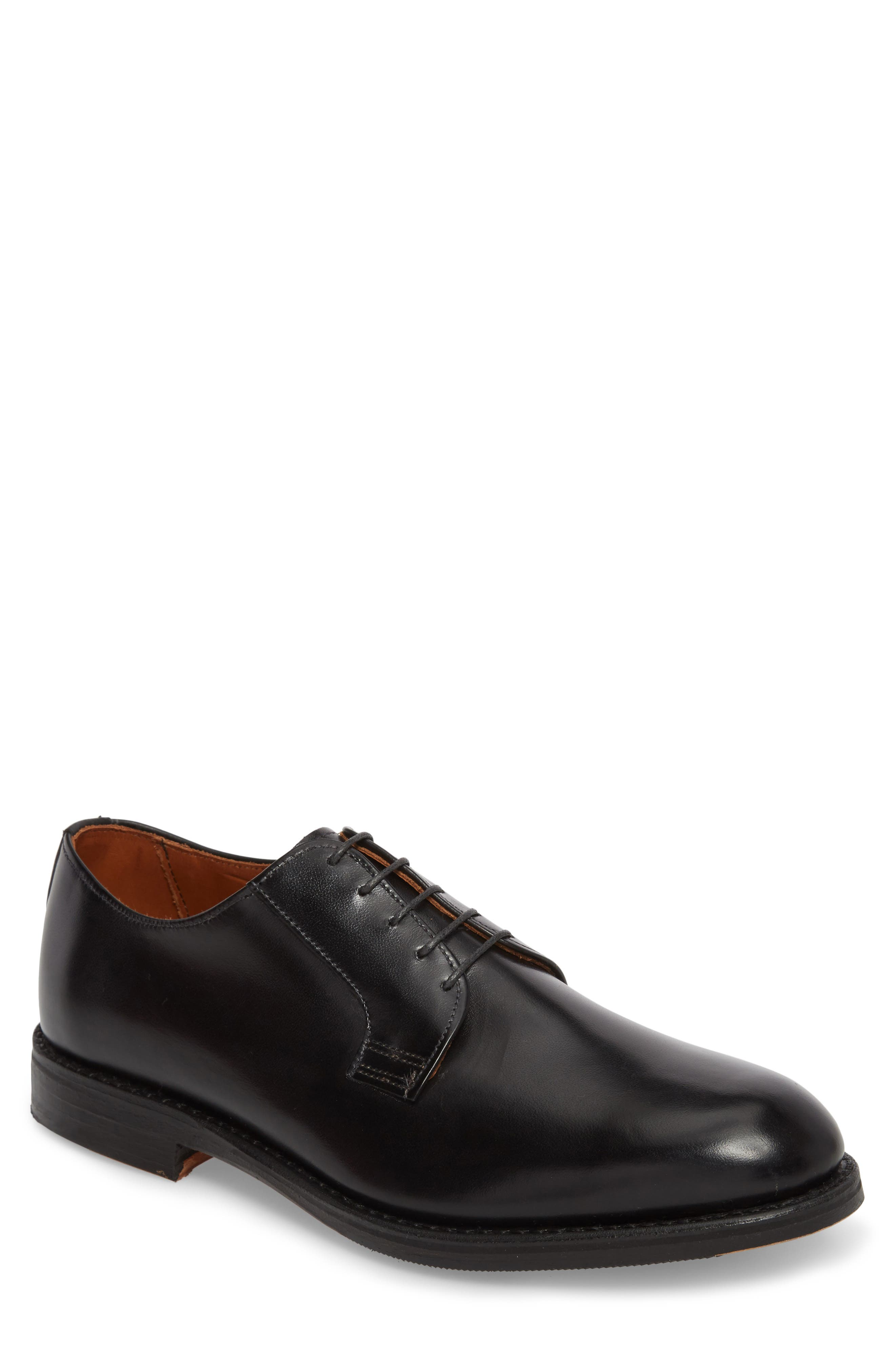 Whitney Plain Toe Derby,                             Main thumbnail 1, color,                             BLACK LEATHER