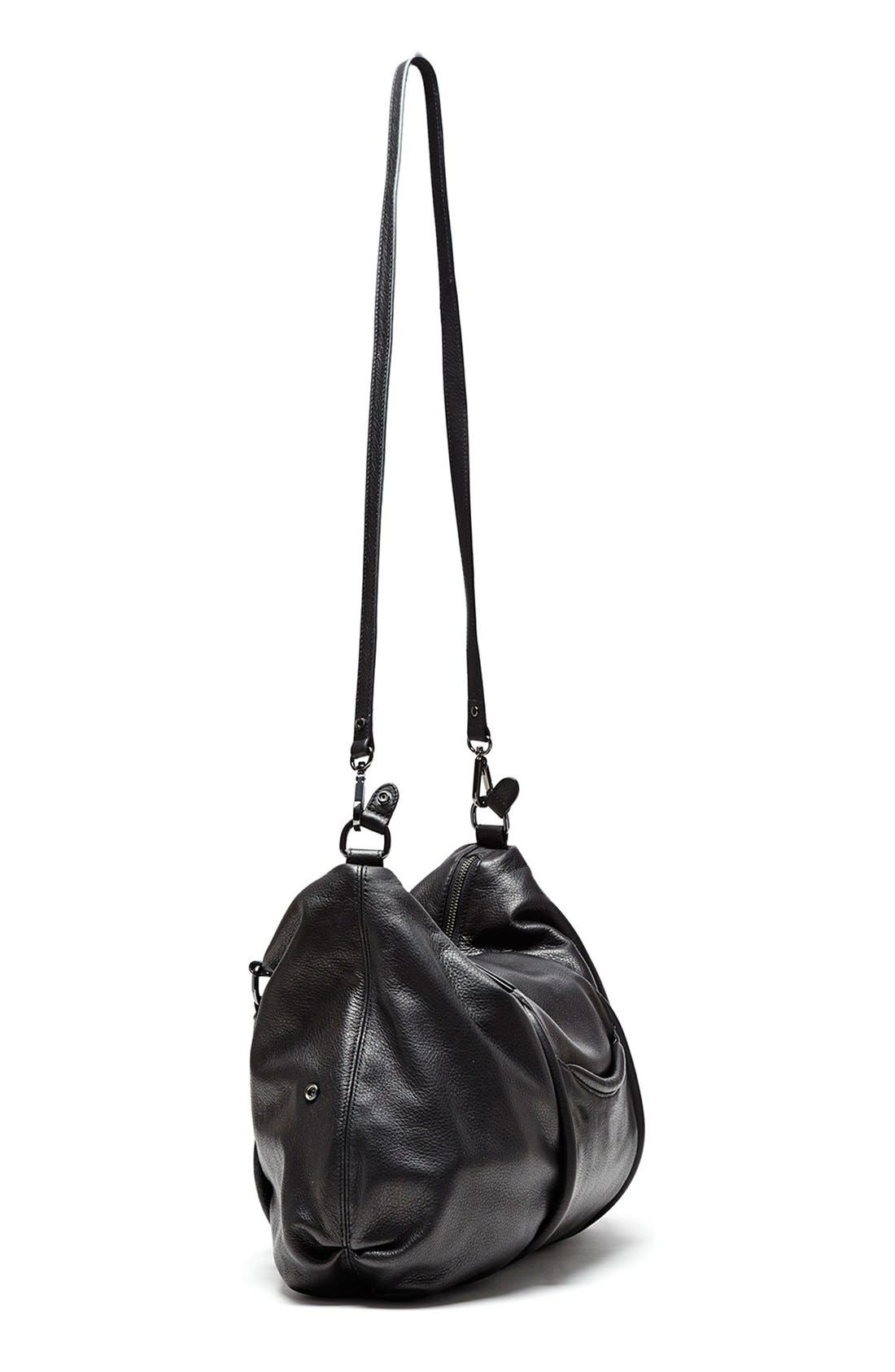 'All Day' Leather Satchel,                             Alternate thumbnail 3, color,                             001