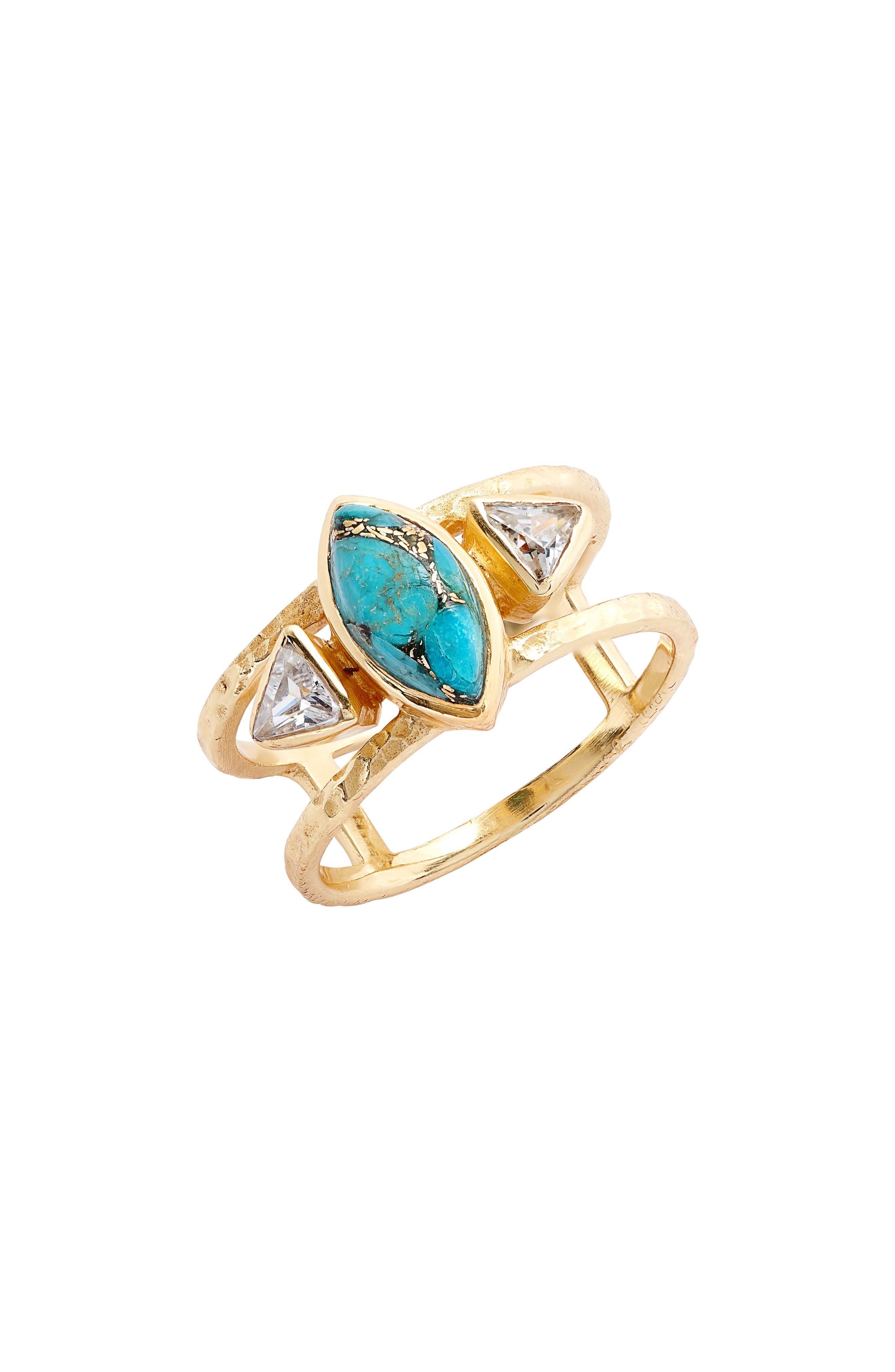 COLLECTIONS BY JOYA Avenue Turquoise Ring, Main, color, 440