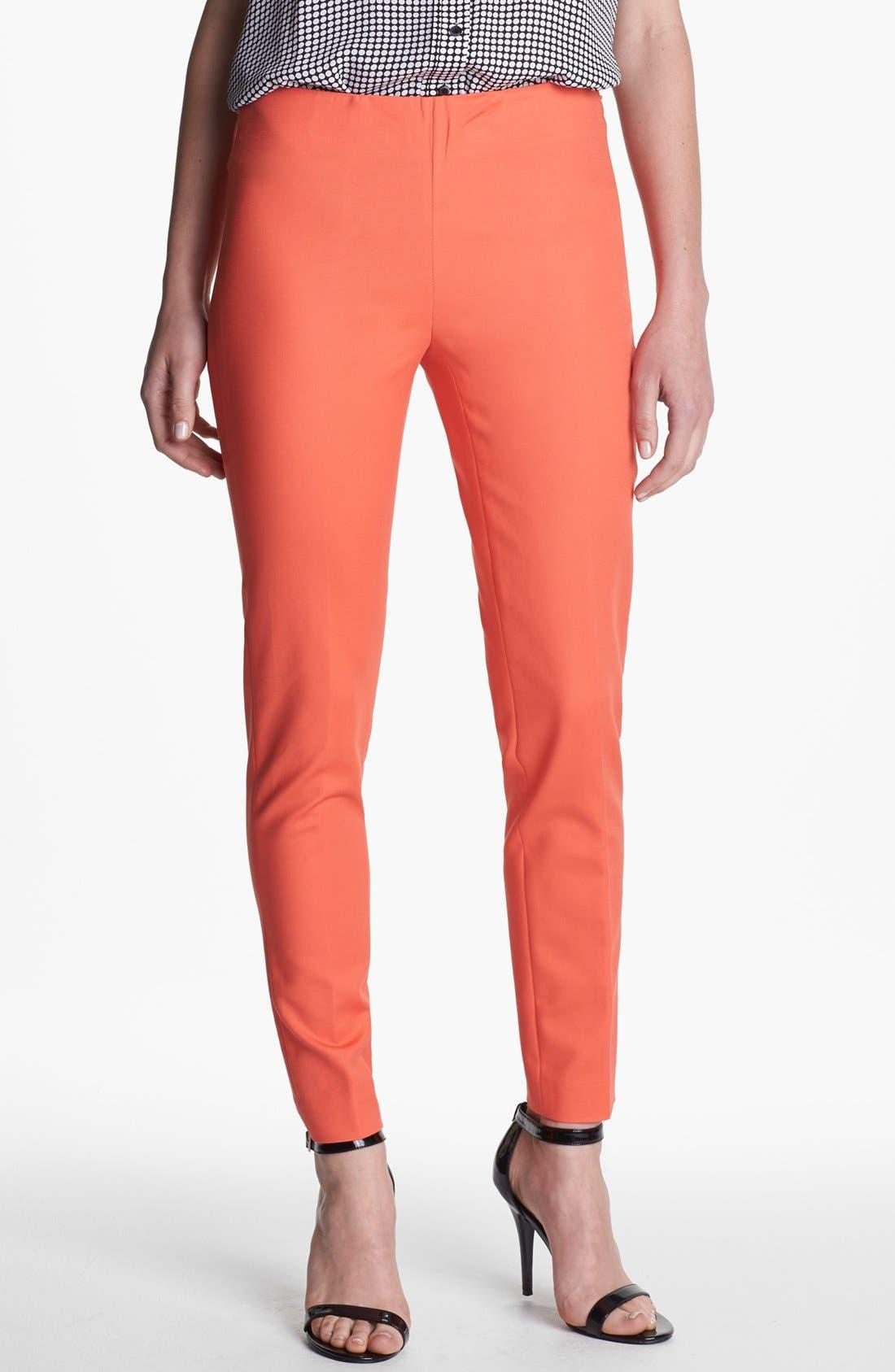 Side Zip Double Weave Pants,                             Main thumbnail 16, color,