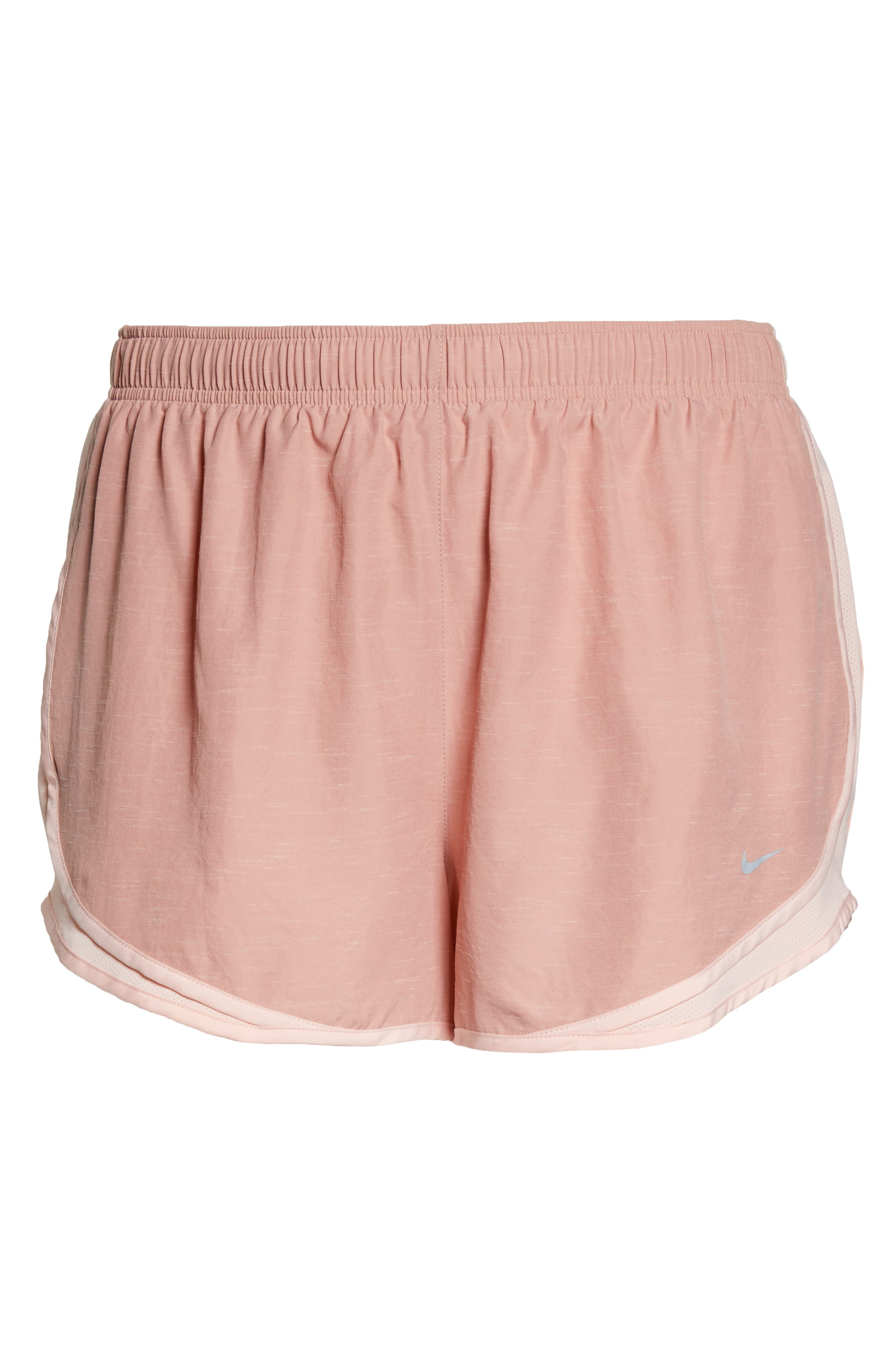 Dry Tempo High Rise Running Shorts,                             Alternate thumbnail 7, color,                             RUST PINK/ STORM PINK
