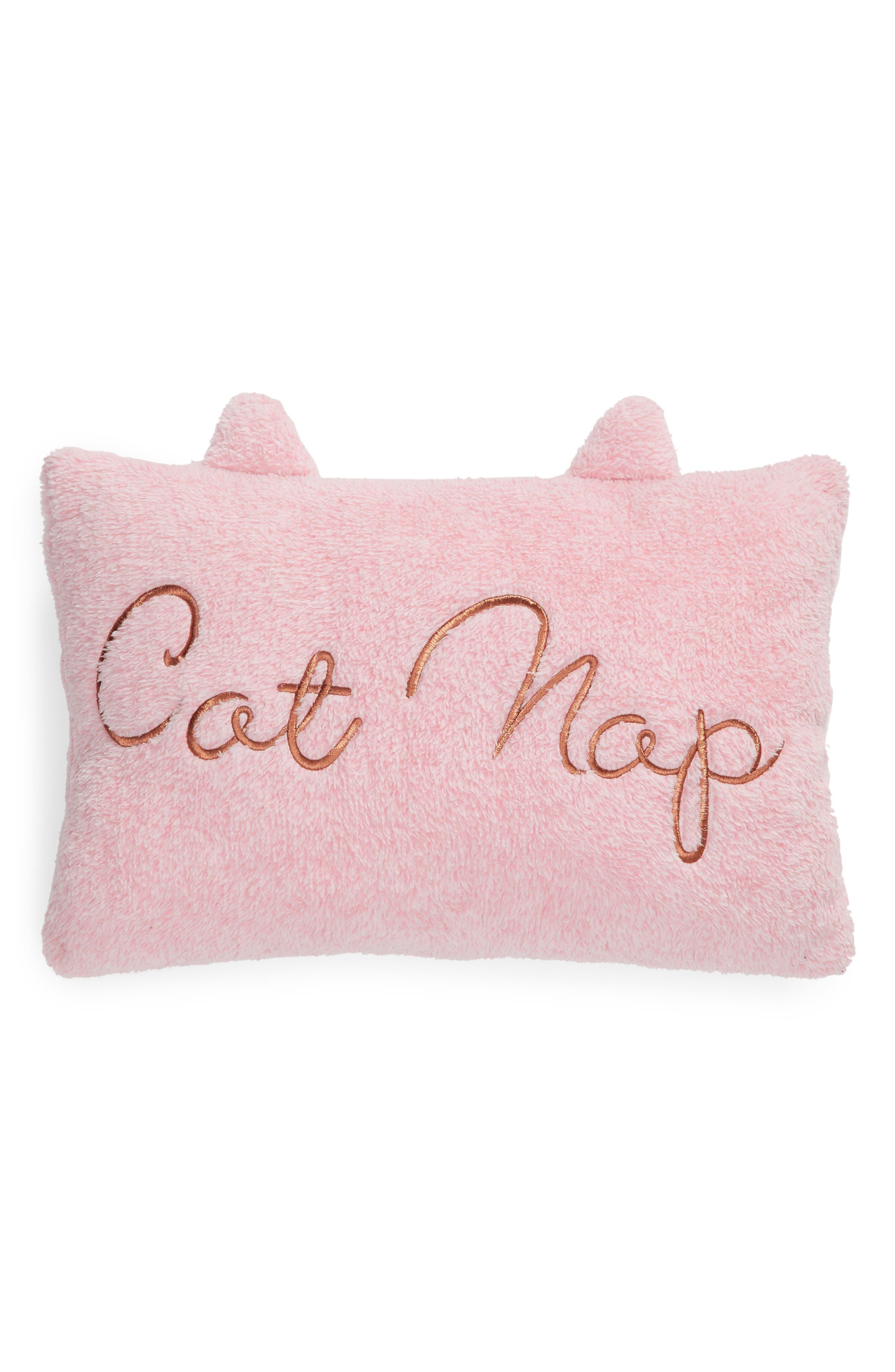 Cat Accent Pillow,                             Alternate thumbnail 2, color,                             PINK COMBO