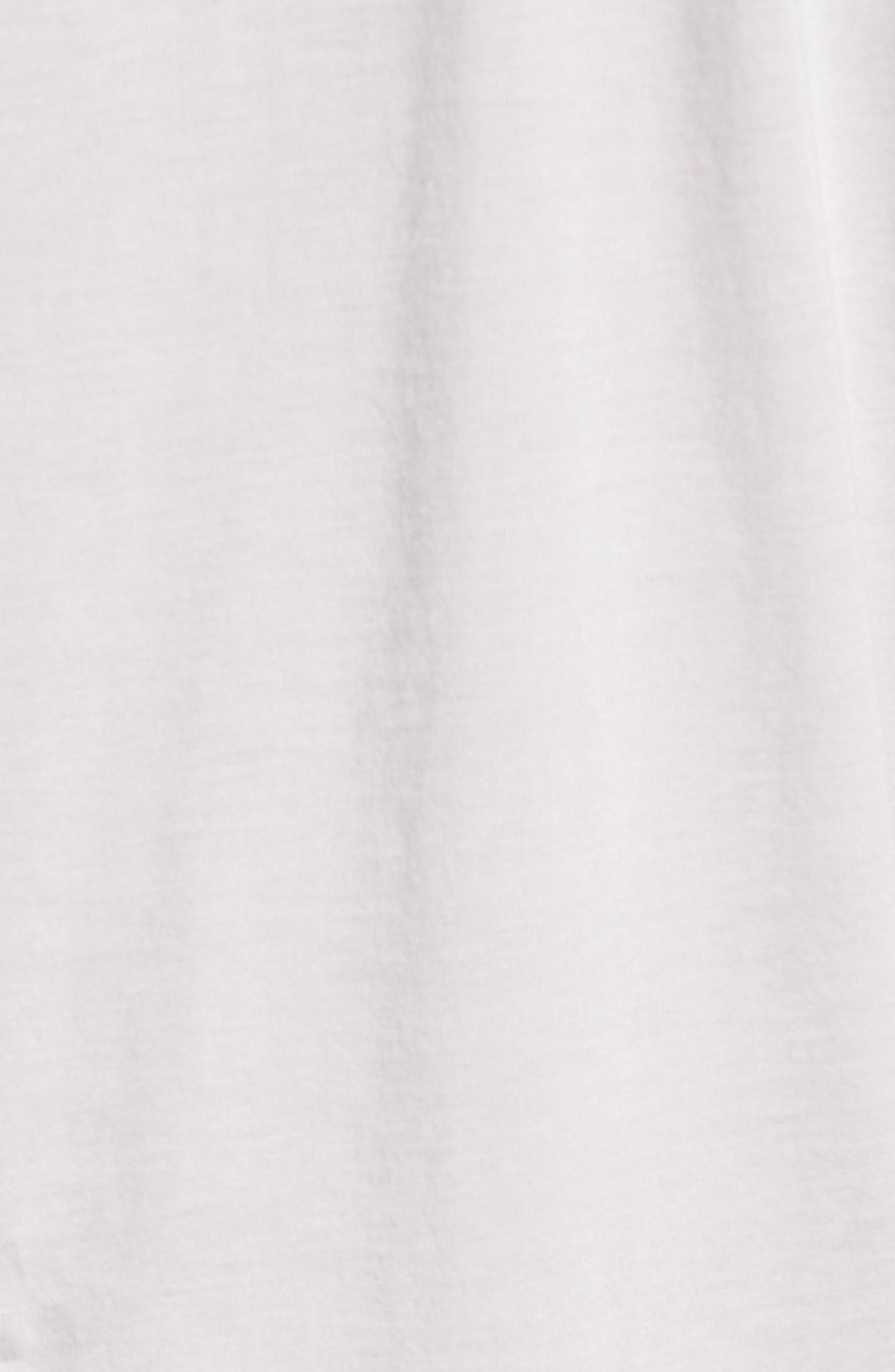 Burnout Cotton Blend Crewneck T-Shirt,                             Alternate thumbnail 5, color,                             055