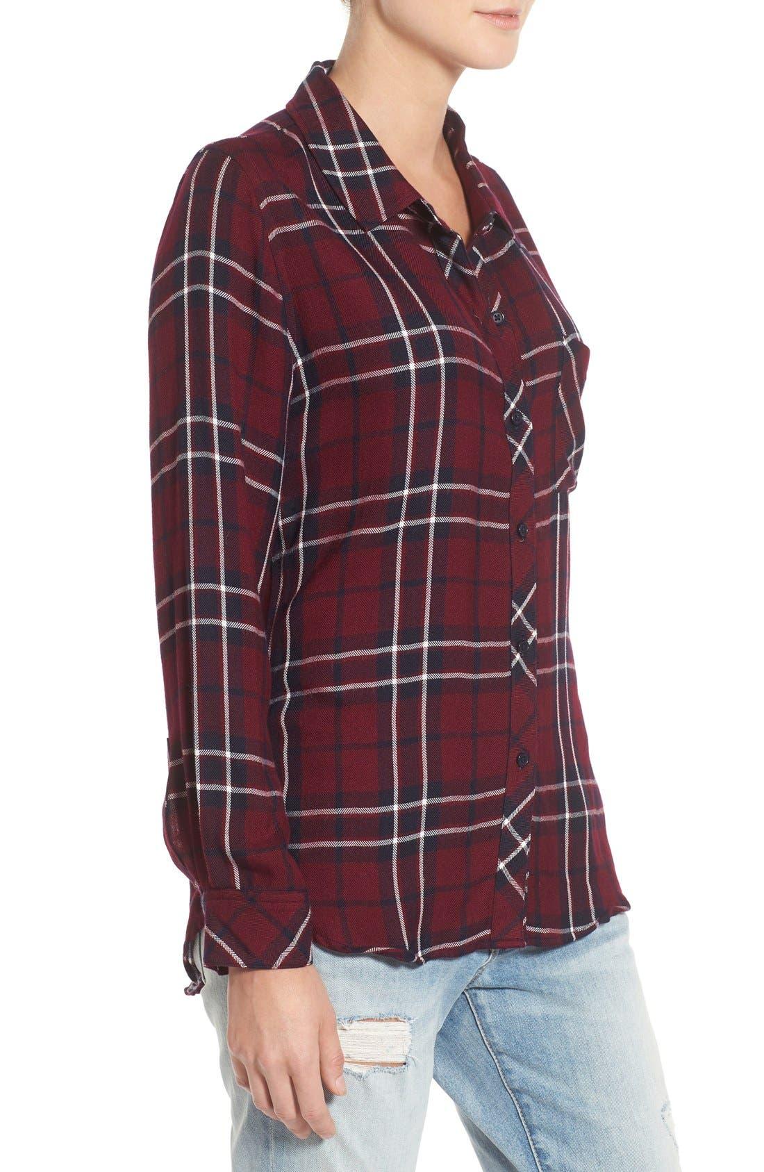 Hunter Plaid Shirt,                             Alternate thumbnail 542, color,
