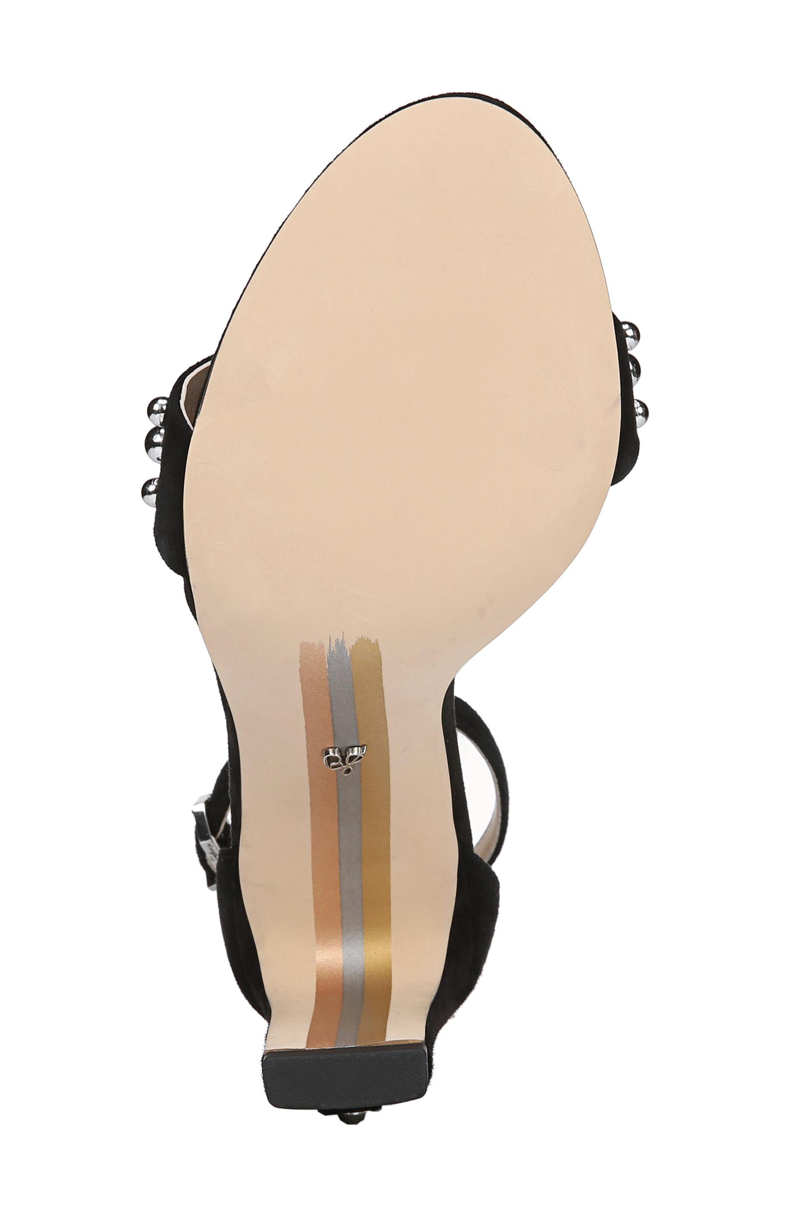 Yoshi Studded Ankle Strap Sandal,                             Alternate thumbnail 6, color,                             001