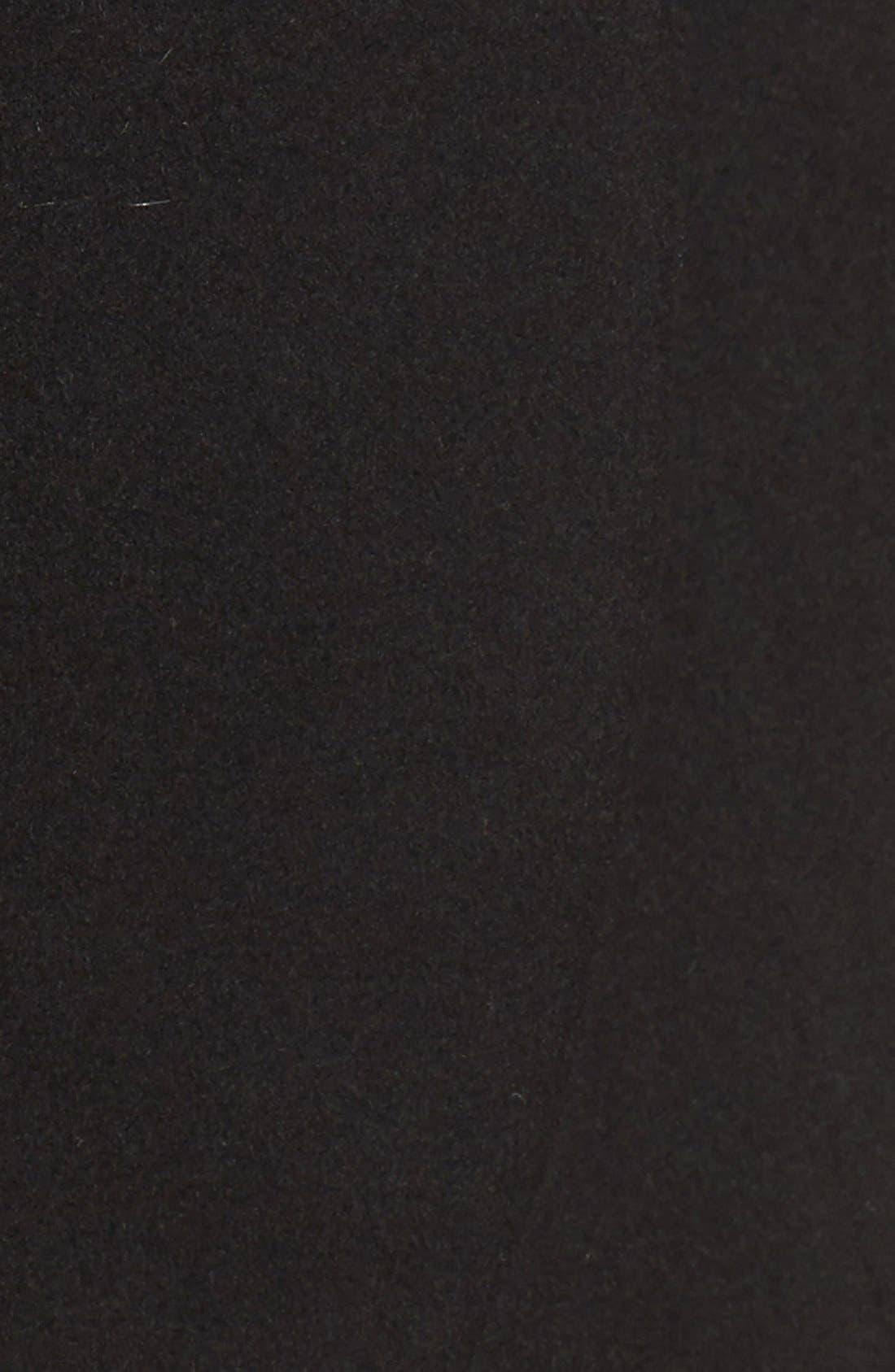 T Tahari Wool Blend Belted Wrap Coat,                             Alternate thumbnail 6, color,                             BLACK