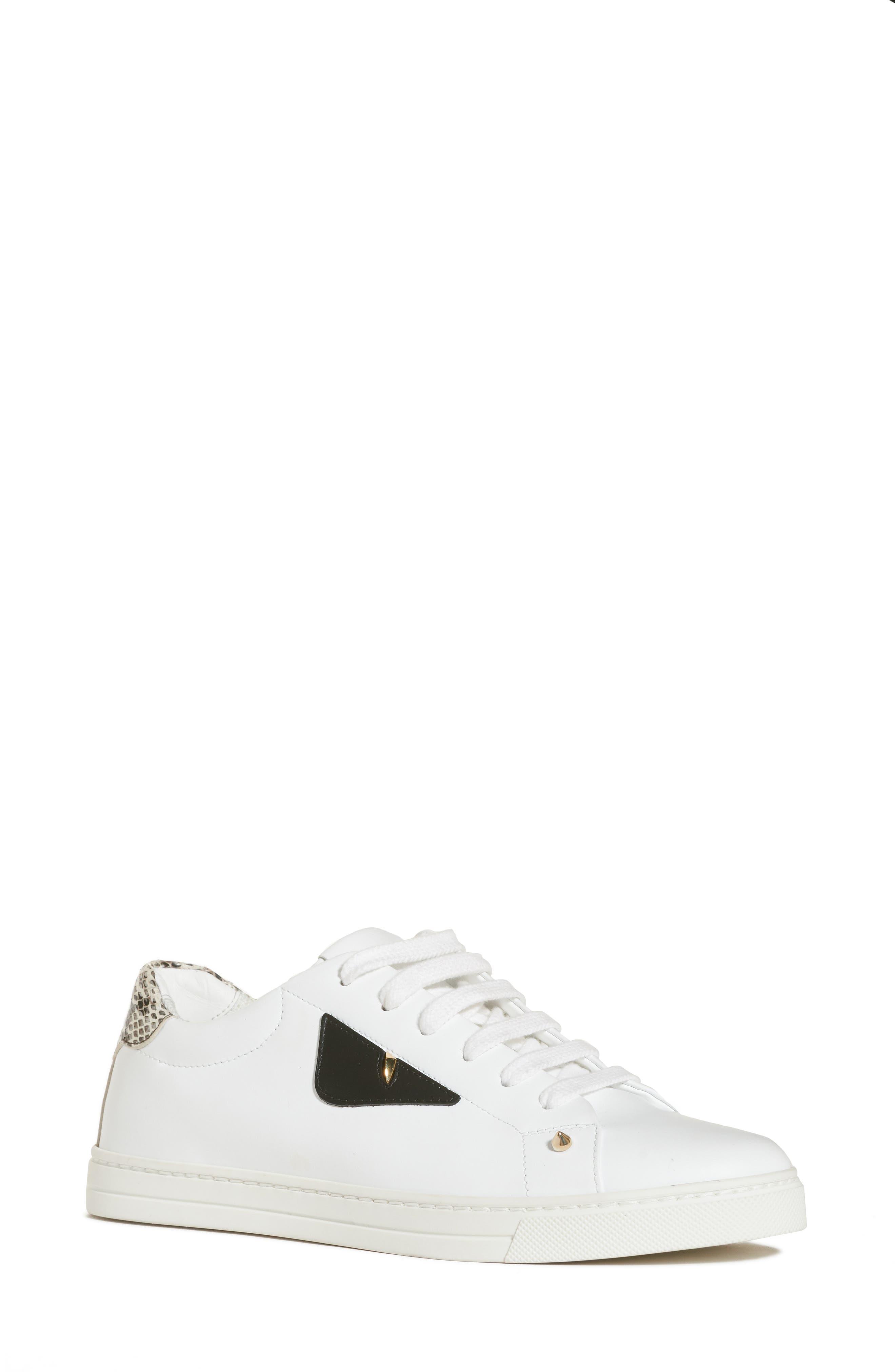 Bugs Sneaker,                             Main thumbnail 1, color,                             WHITE/ SNAKEPRINT