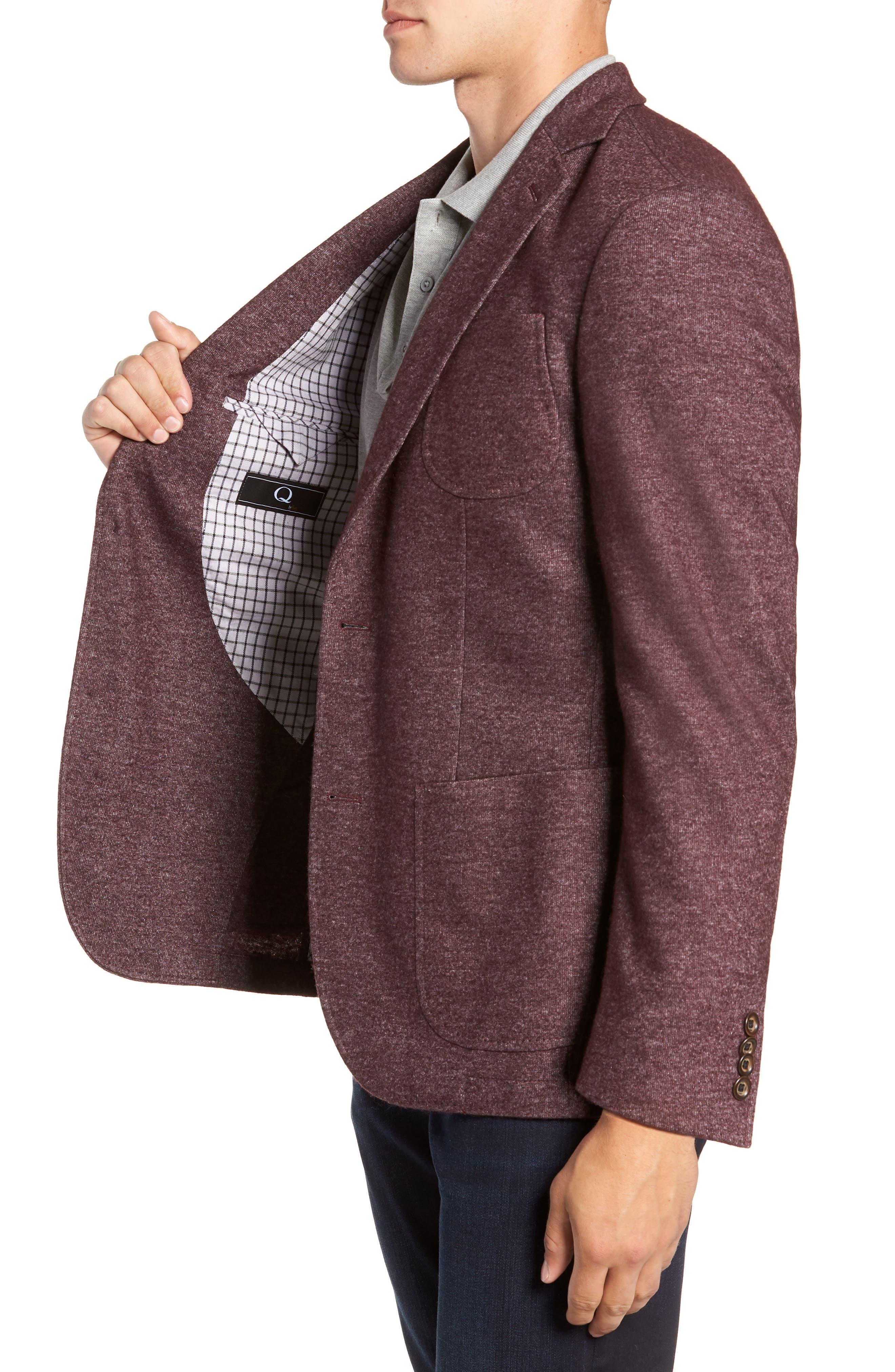 Regular Fit Knit Wool Blend Sport Coat,                             Alternate thumbnail 3, color,                             PORT