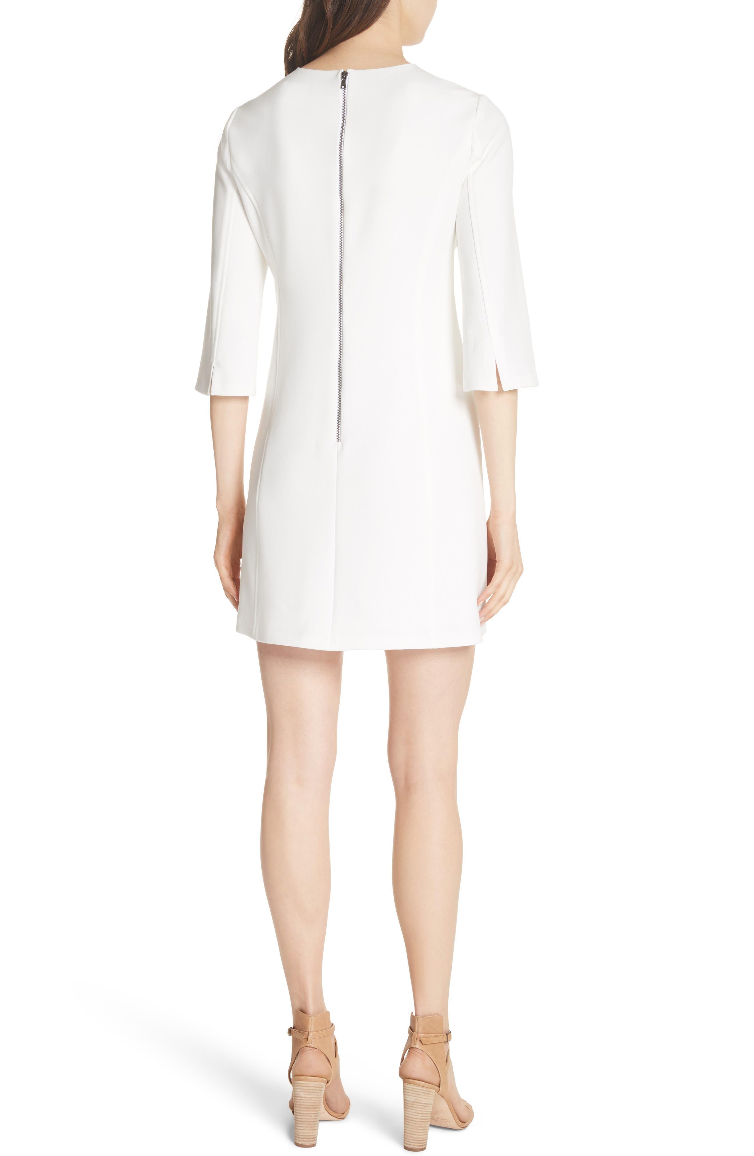Gem Shift Dress,                             Alternate thumbnail 2, color,                             OFF WHITE