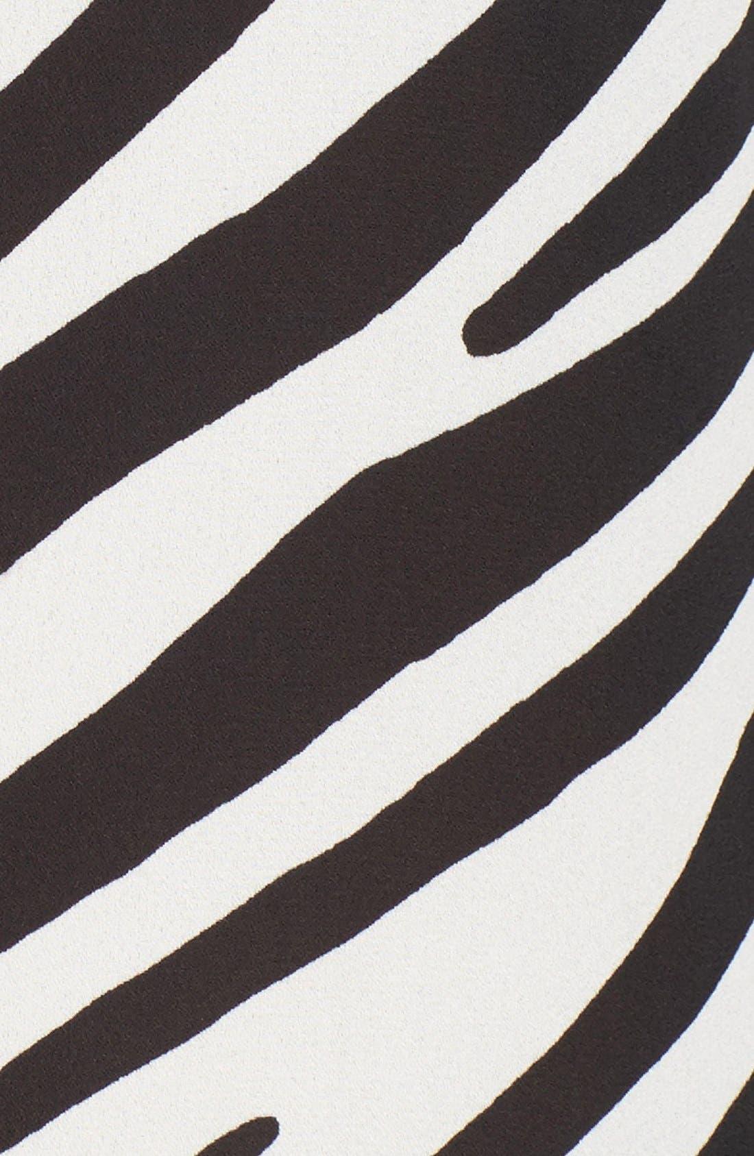 Zebra Stripe Long Sleeve Blouse,                             Alternate thumbnail 5, color,                             006