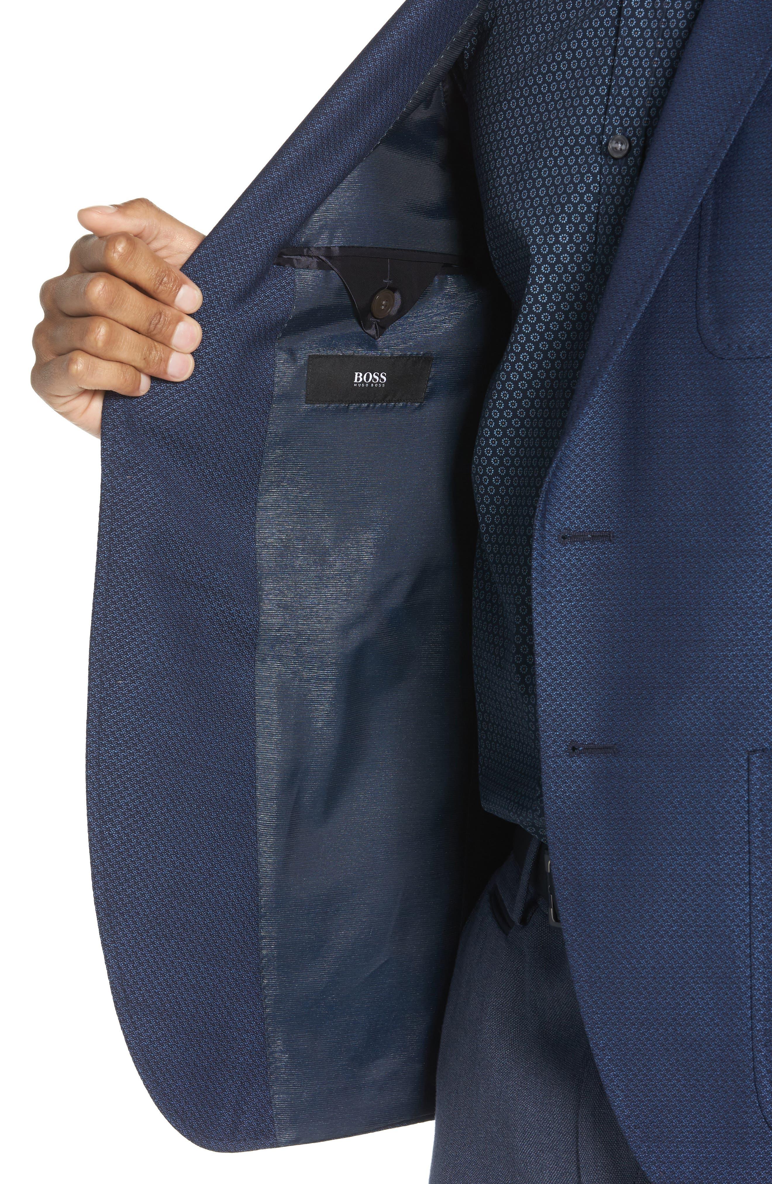Raye Extra Trim Fit Wool Blazer,                             Alternate thumbnail 4, color,                             BLUE