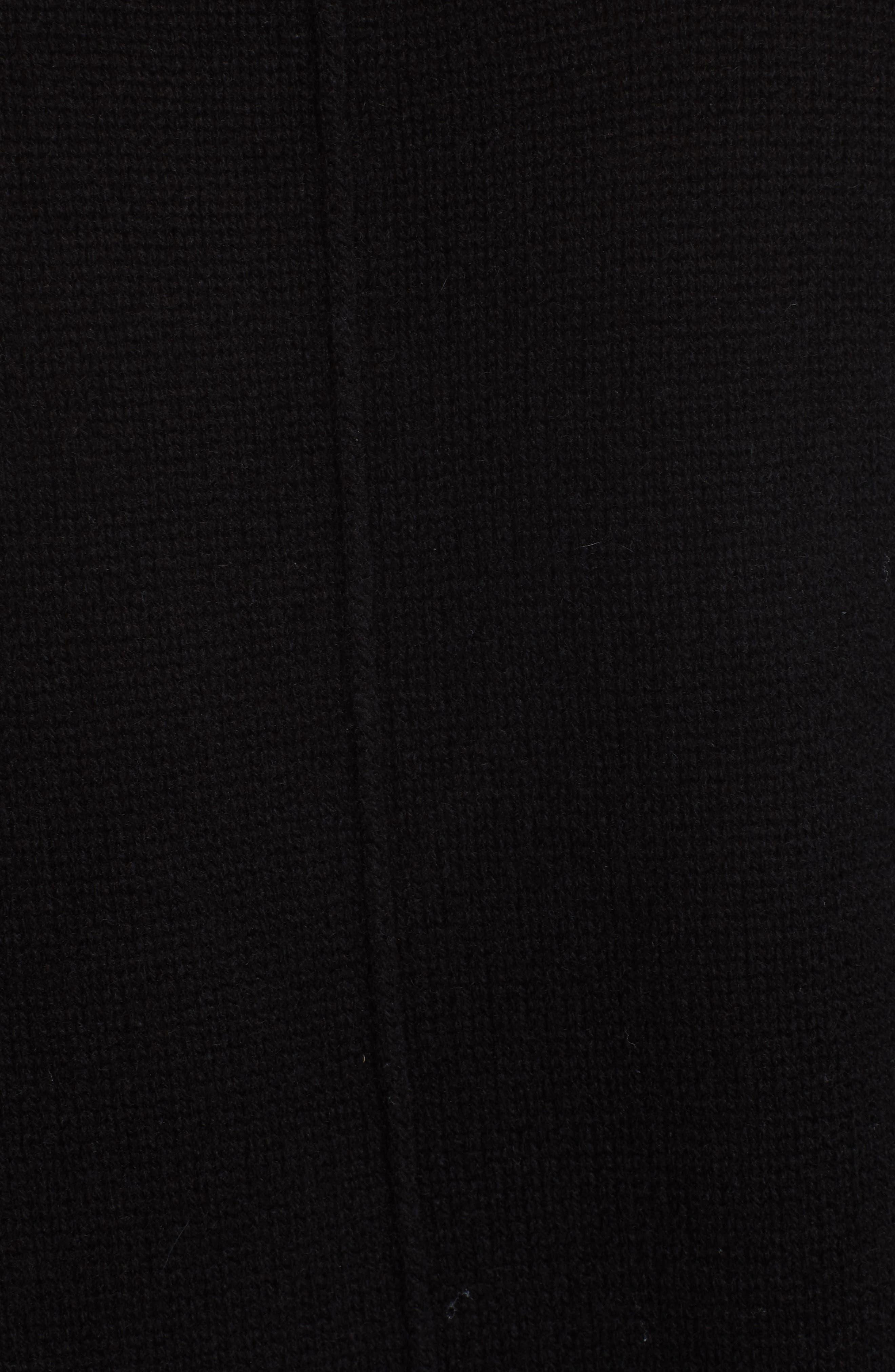 V-Neck Layered Pullover,                             Alternate thumbnail 5, color,                             BLACK ONYX
