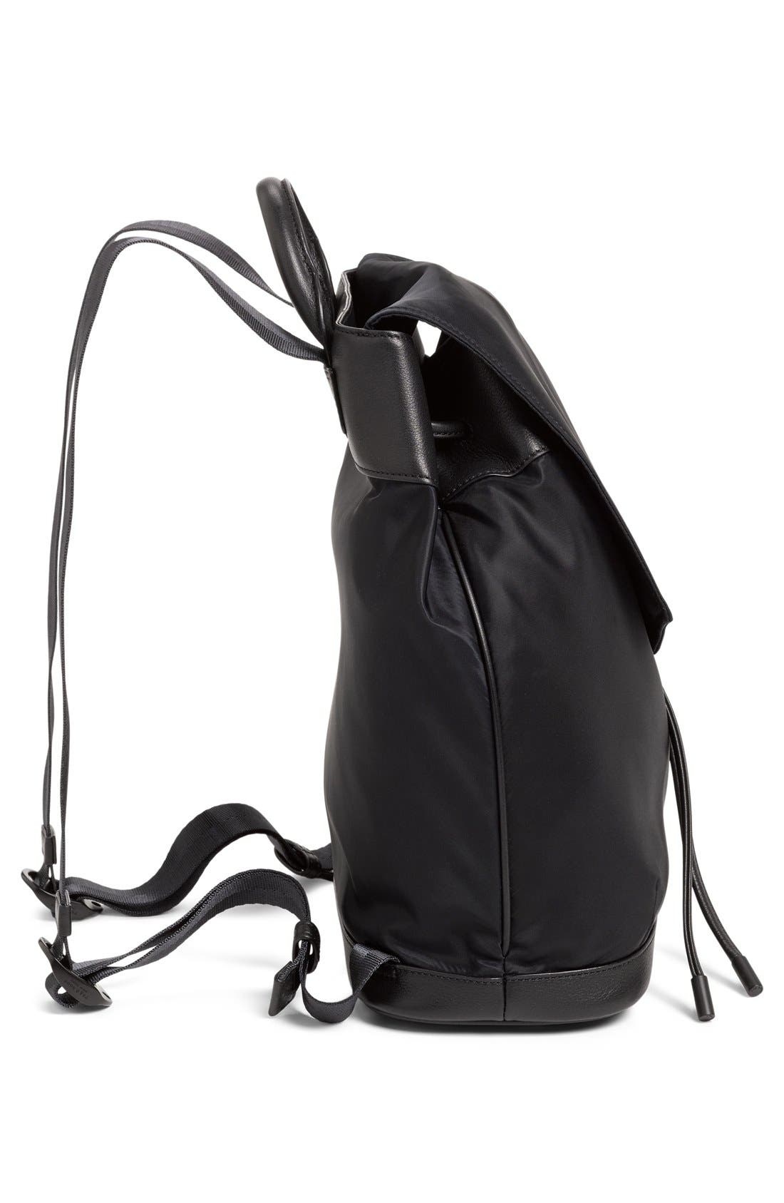 RAG & BONE,                             'Pilot' Nylon Backpack,                             Alternate thumbnail 5, color,                             002