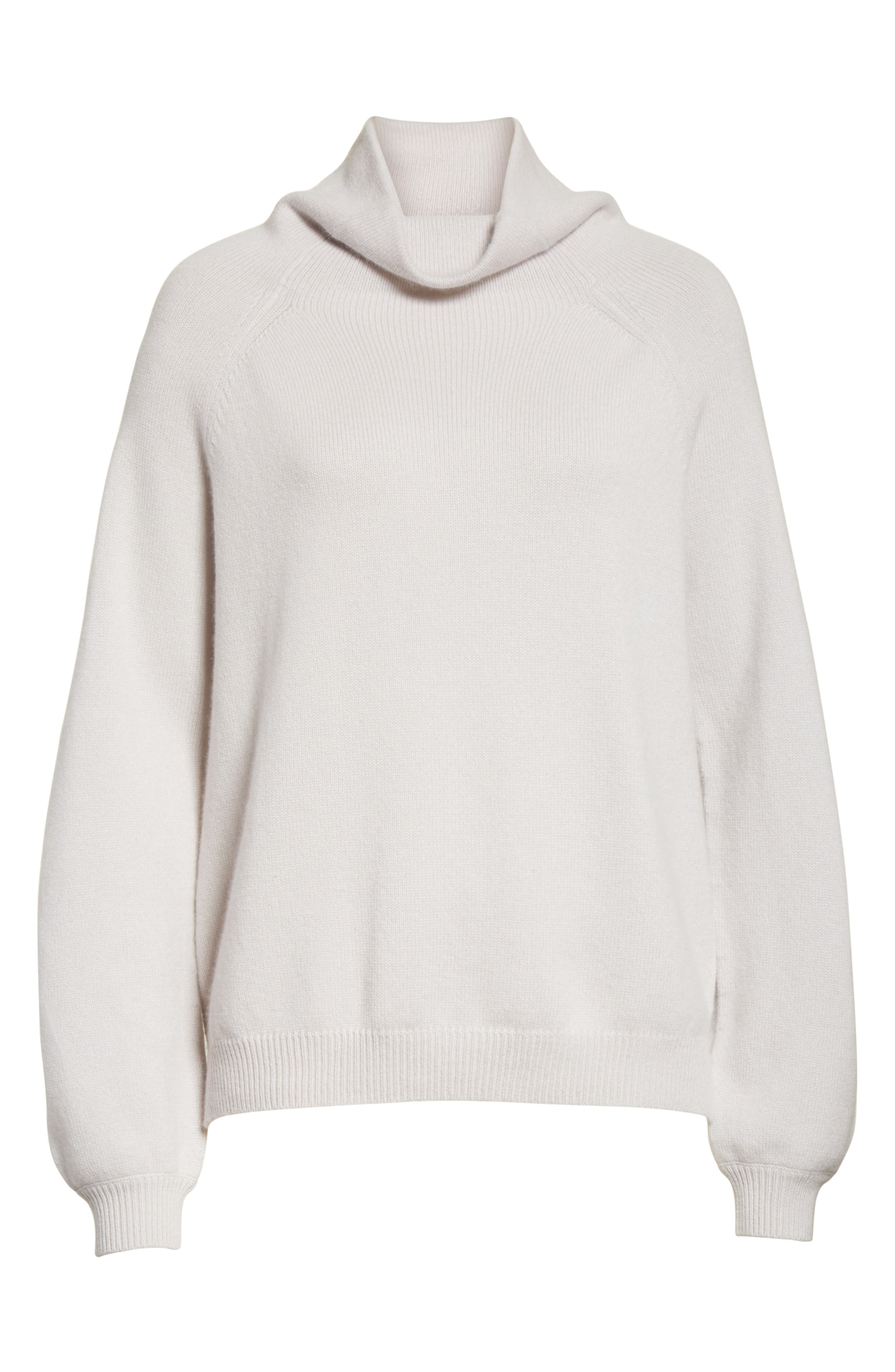 Balloon Sleeve Cashmere Turtleneck Sweater,                             Alternate thumbnail 6, color,                             020