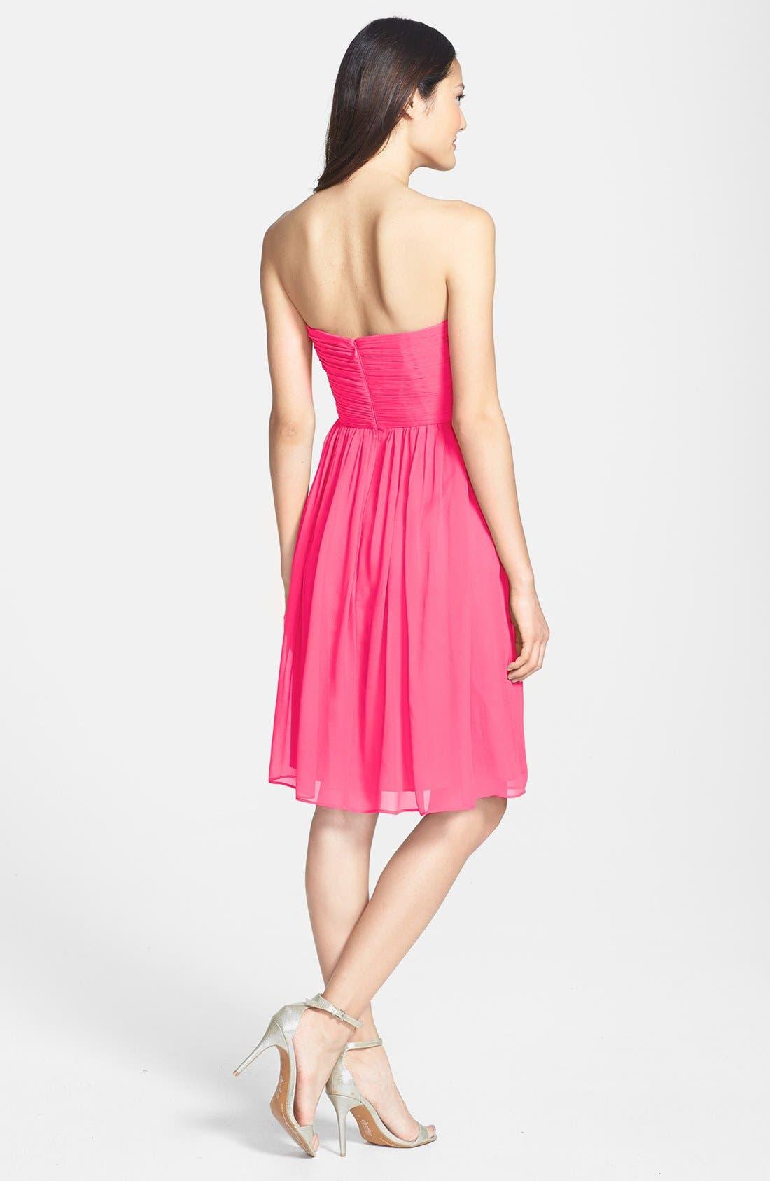 'Morgan' Strapless Silk Chiffon Dress,                             Alternate thumbnail 142, color,