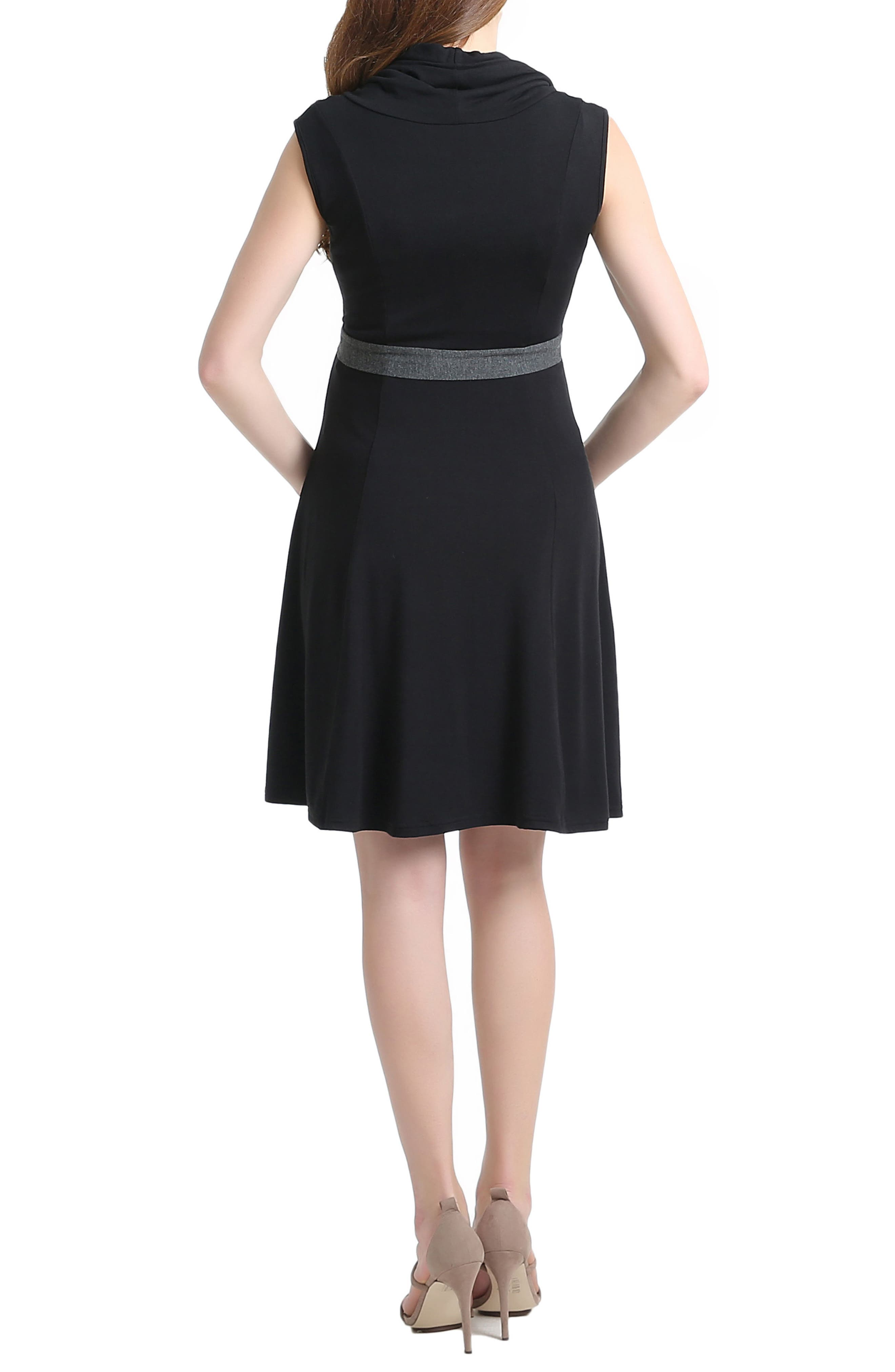 Megan Cowl Neck Maternity/Nursing Dress,                             Alternate thumbnail 2, color,                             001