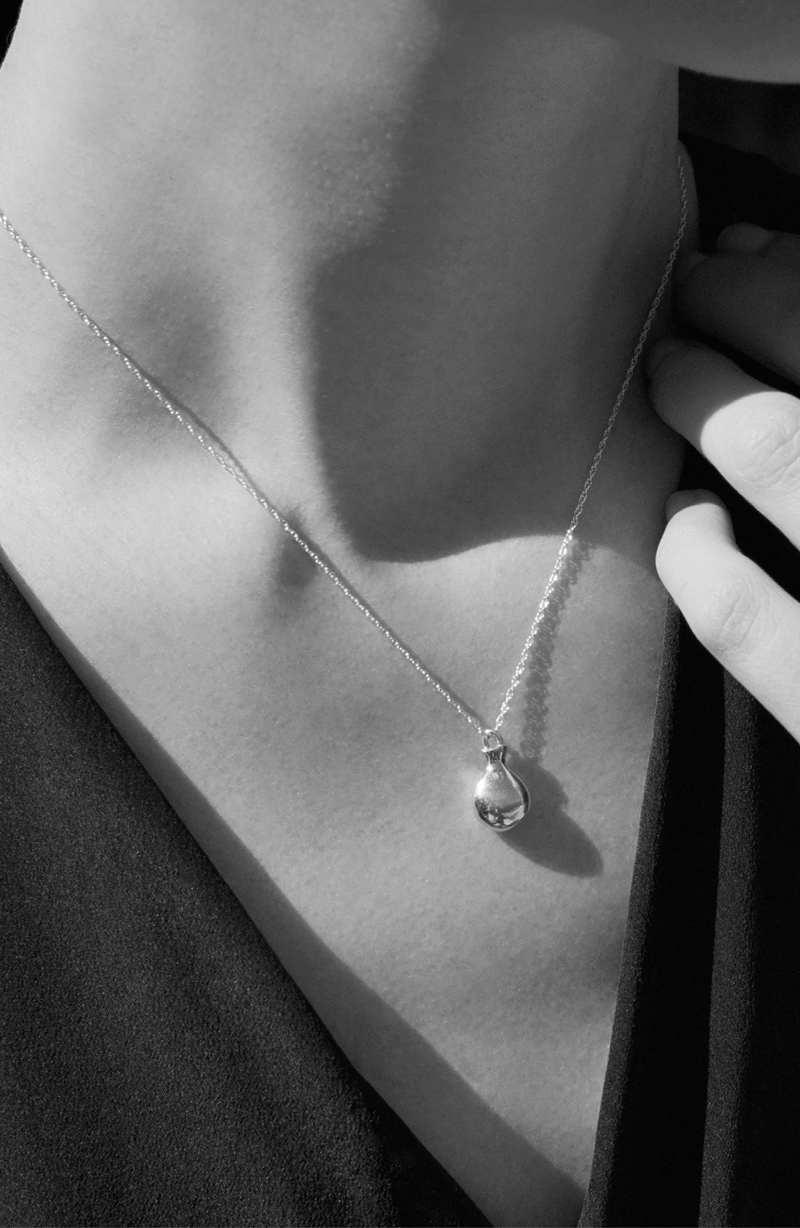 Tiny Perfume Pendant Necklace,                             Alternate thumbnail 3, color,