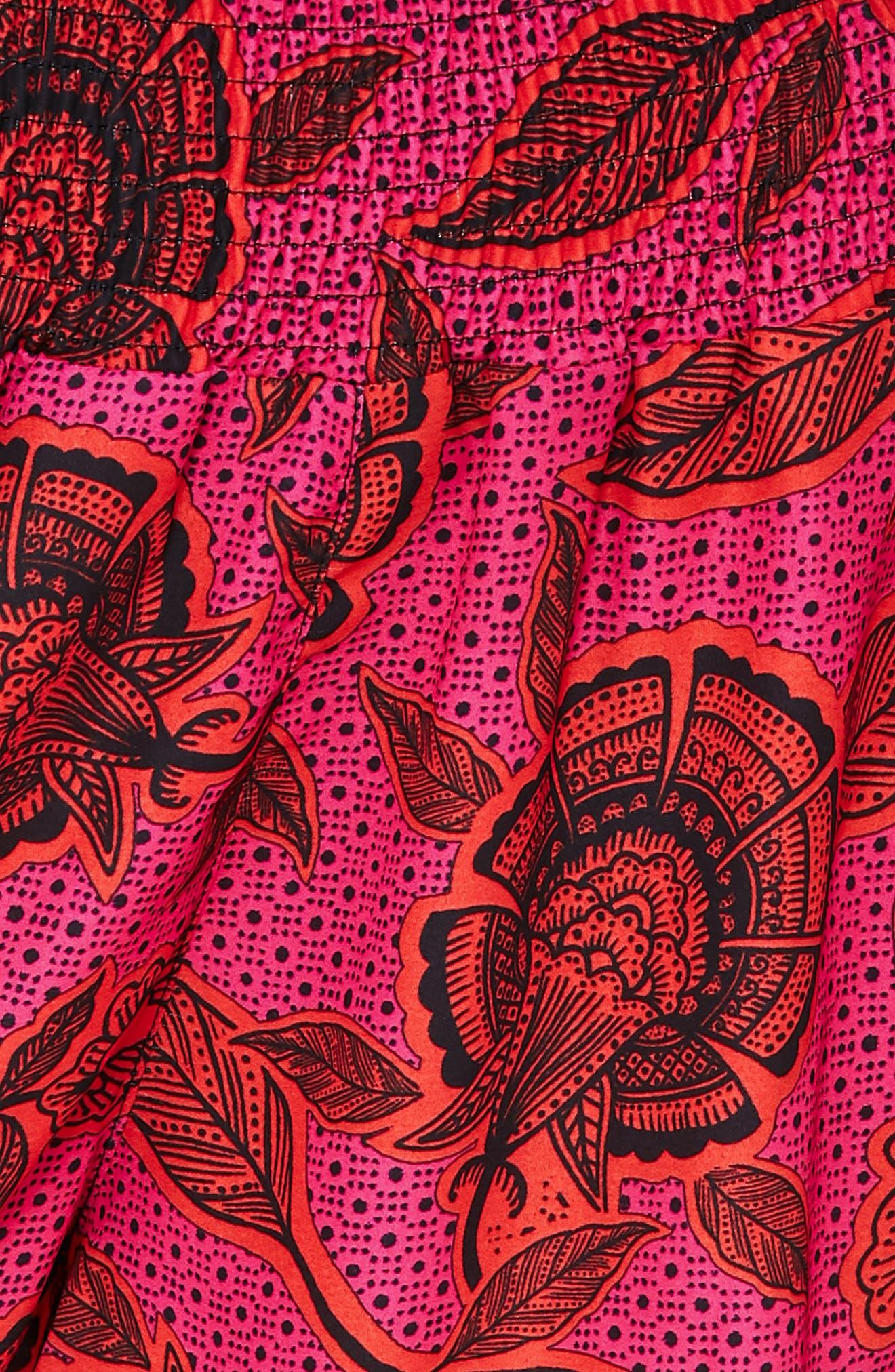 Printed Chiffon Shorts,                             Alternate thumbnail 4, color,                             650