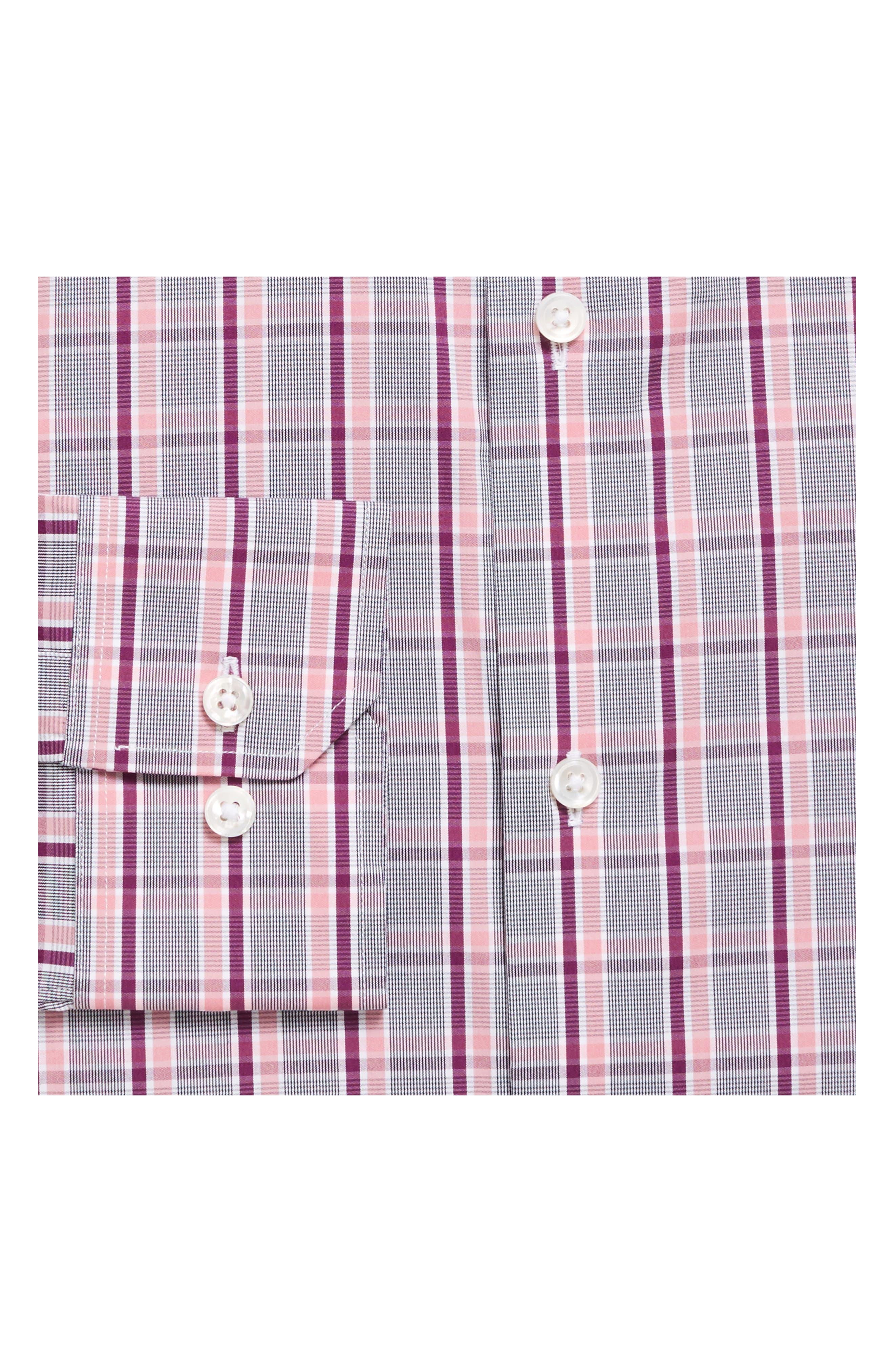Slim Fit Plaid Dress Shirt,                             Alternate thumbnail 2, color,                             600