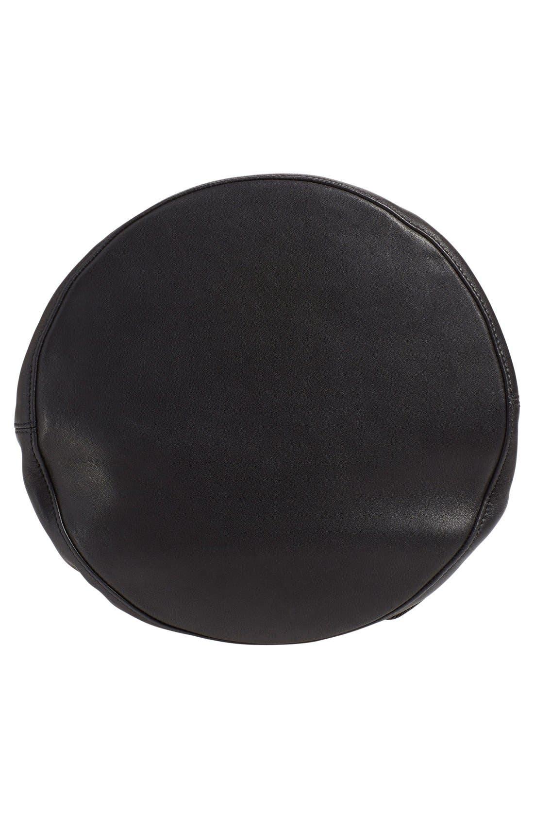 'Walker' Leather Backpack,                             Alternate thumbnail 4, color,                             001