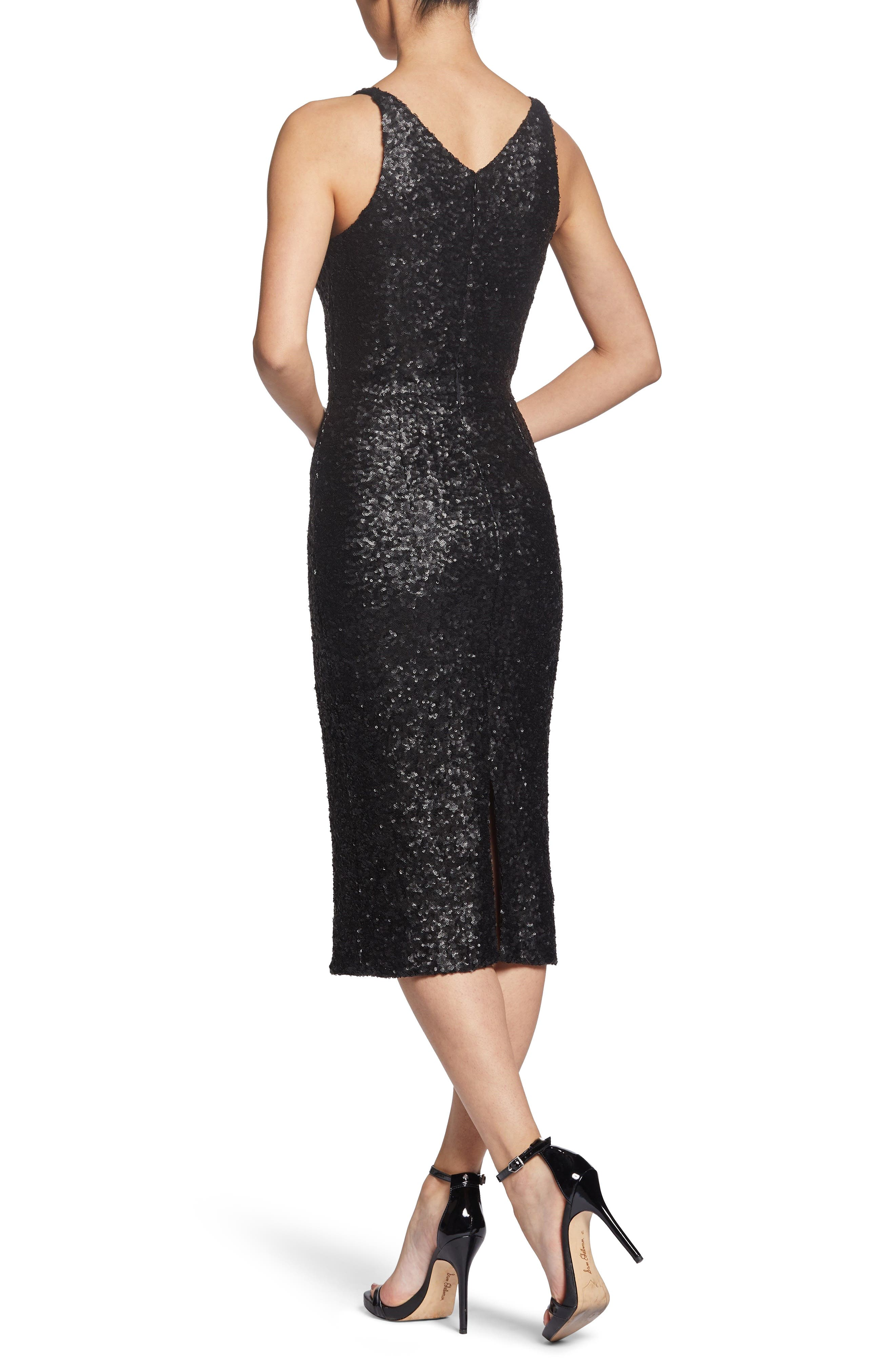Camilla Plunging Sequin Sheath Dress,                             Alternate thumbnail 2, color,                             008