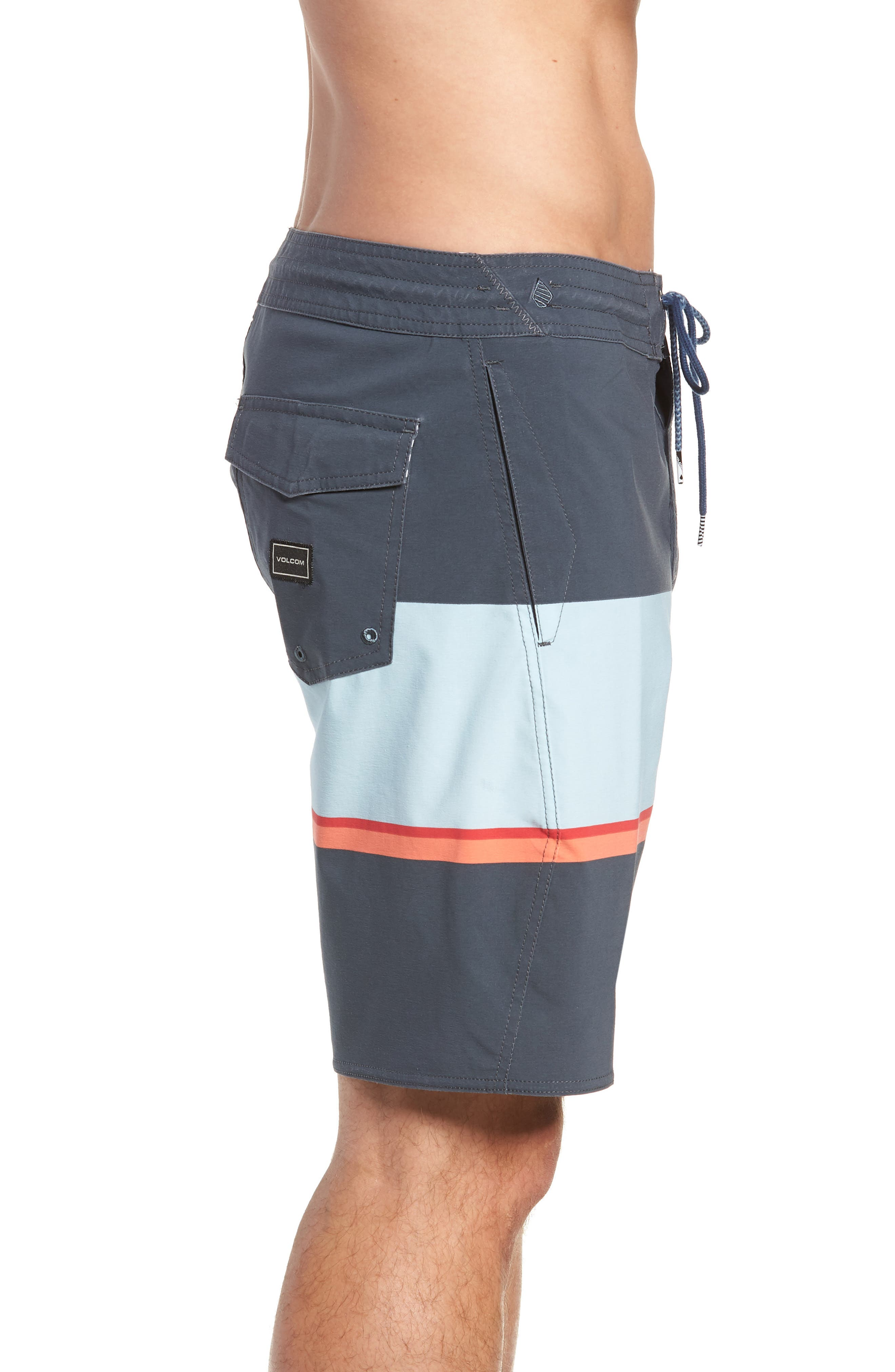 3 Quarta Stoney Board Shorts,                             Alternate thumbnail 4, color,                             MEDIUM BLUE
