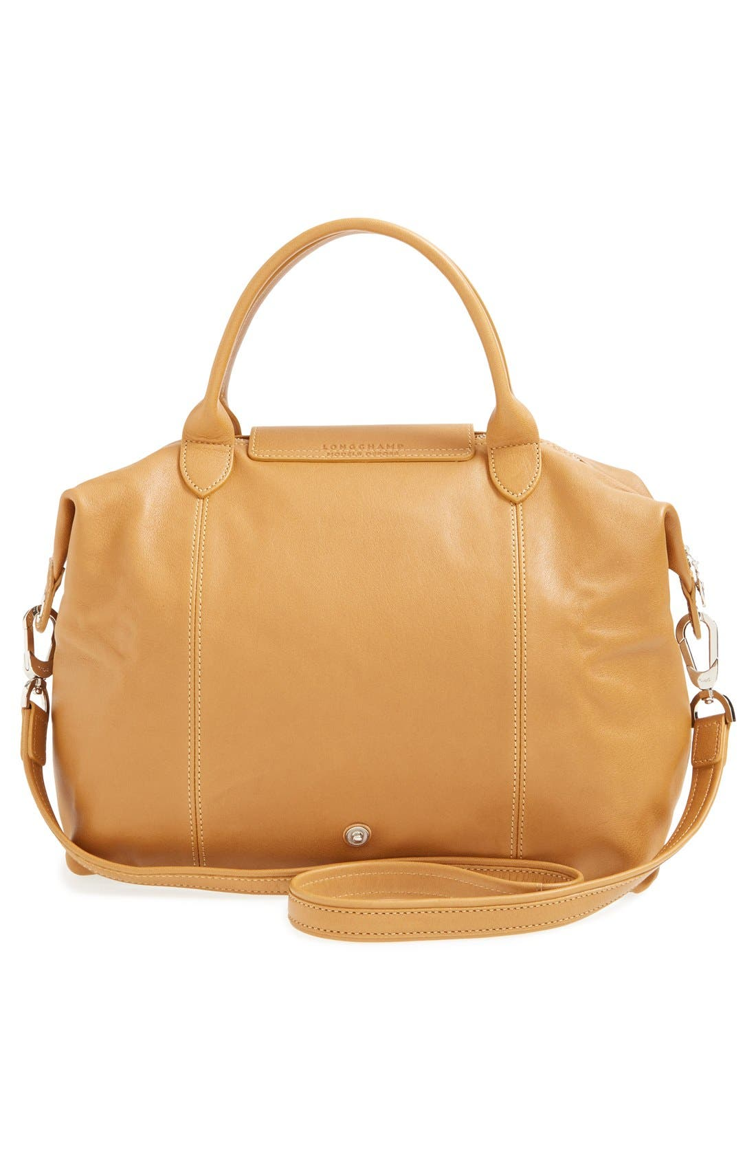 Medium 'Le Pliage Cuir' Leather Top Handle Tote,                             Alternate thumbnail 59, color,