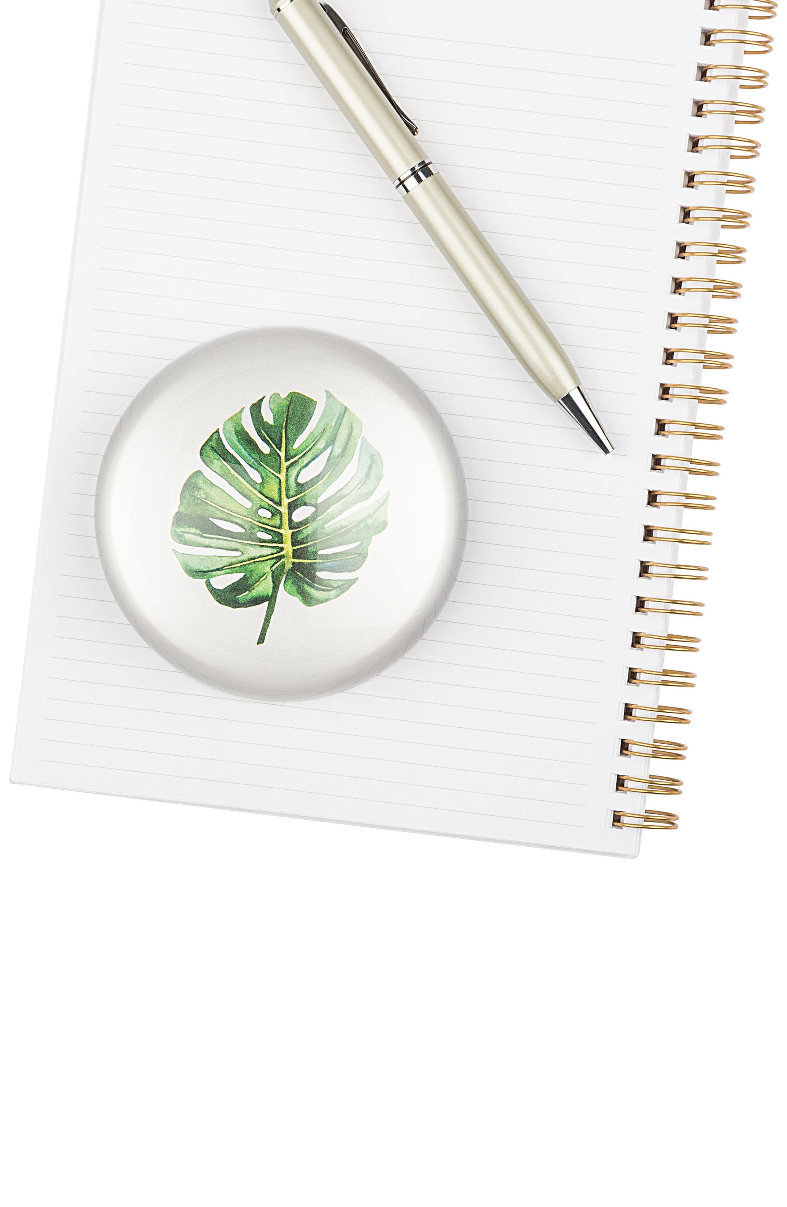 Palm Domed Glass Paperweight,                             Alternate thumbnail 3, color,
