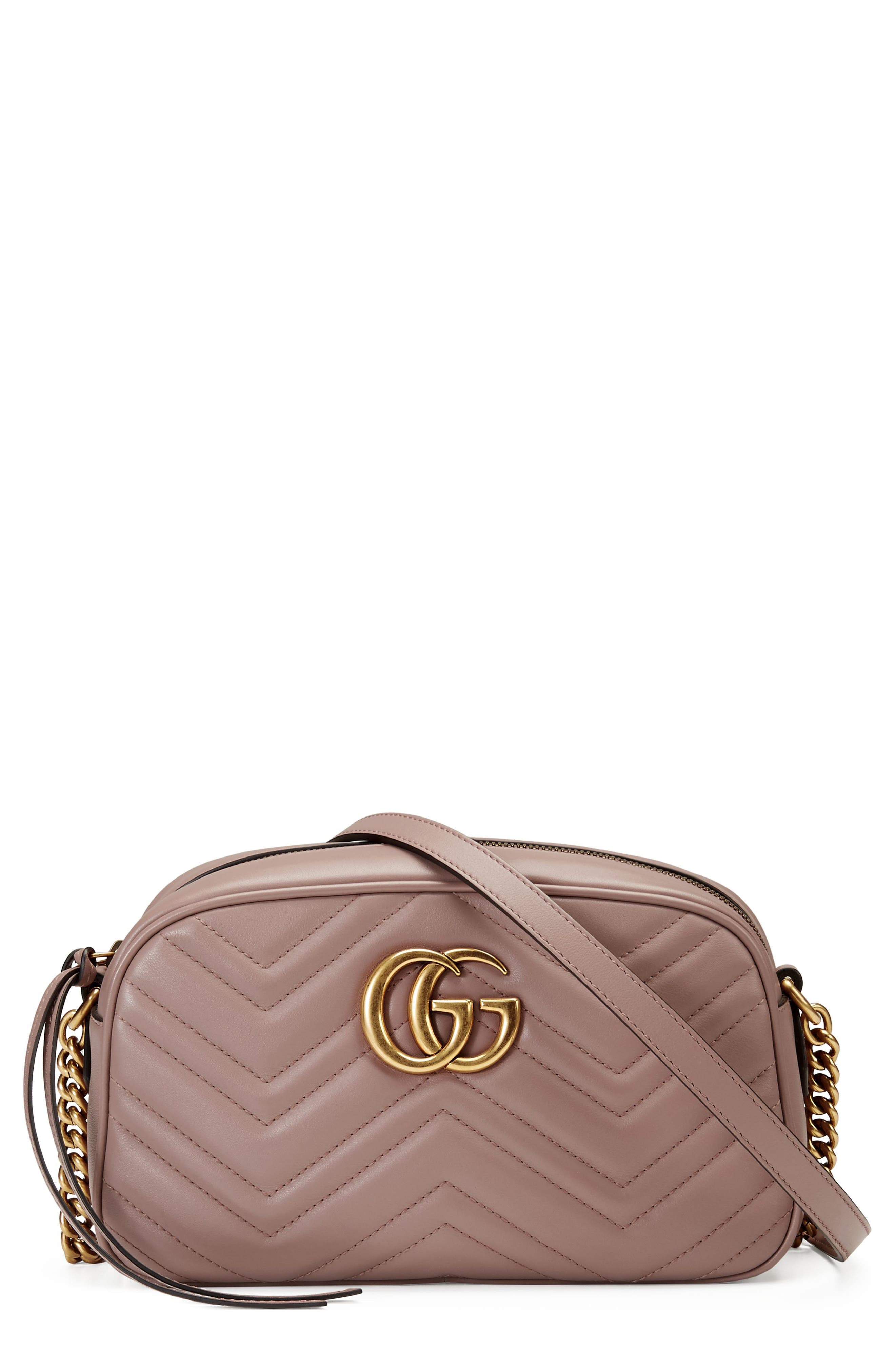 Gucci Small Gg Marmont 2.0 Matelasse Leather Camera Bag - Beige