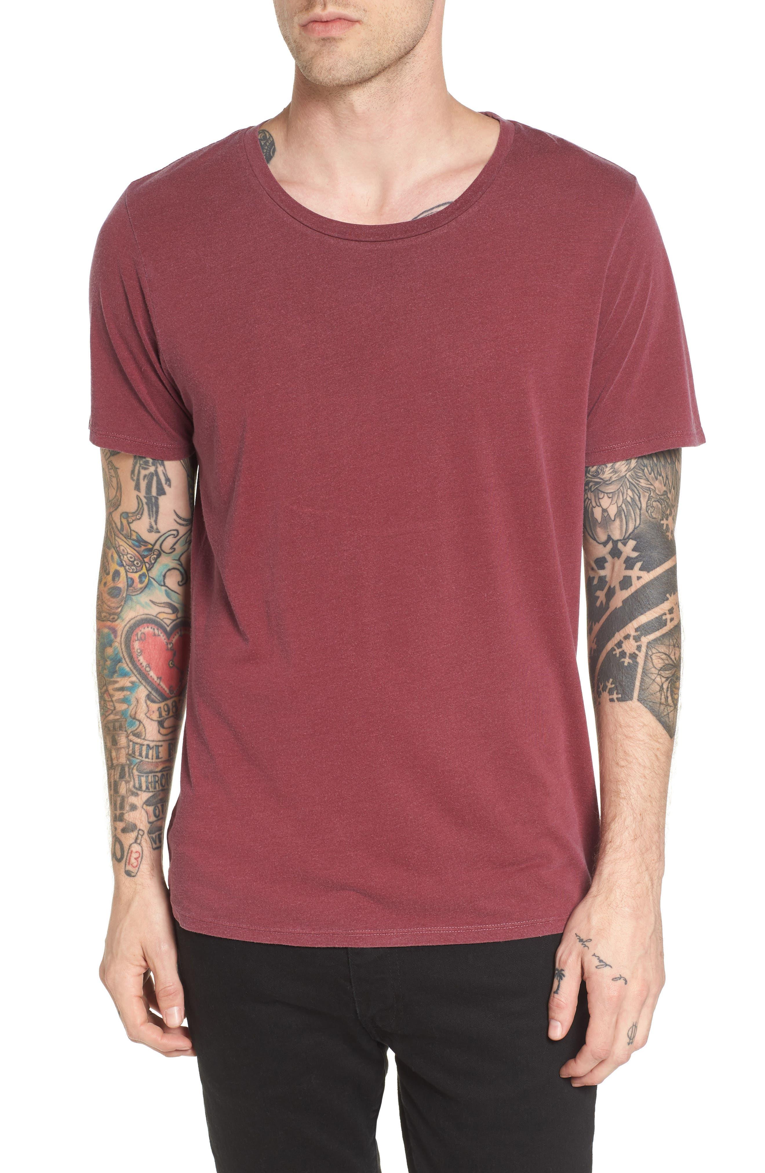 Slim Fit Scoop Neck T-Shirt,                             Main thumbnail 2, color,