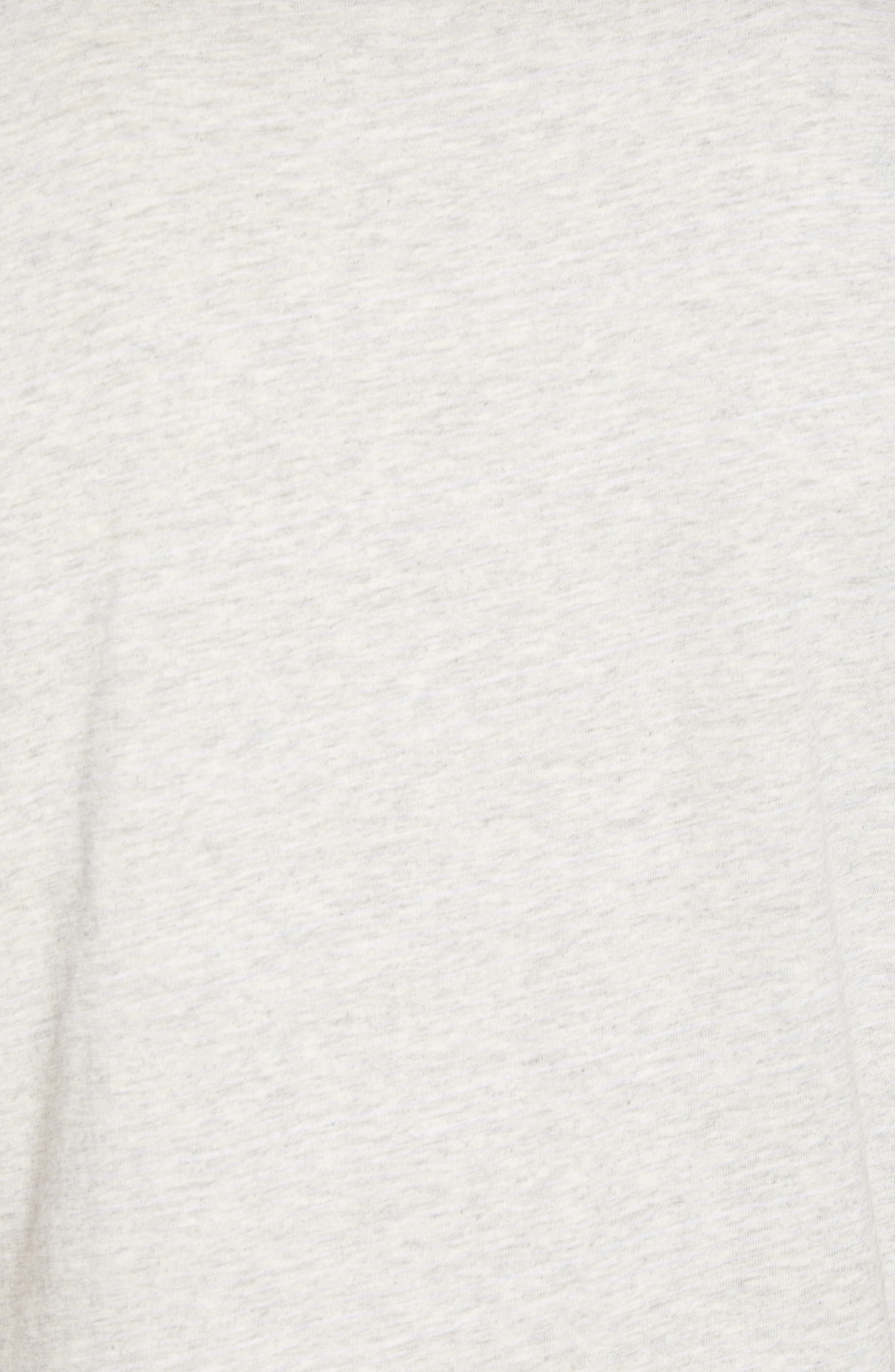 Chest Stripe Pocket T-Shirt,                             Alternate thumbnail 5, color,                             HEATHER GREY STRIPE